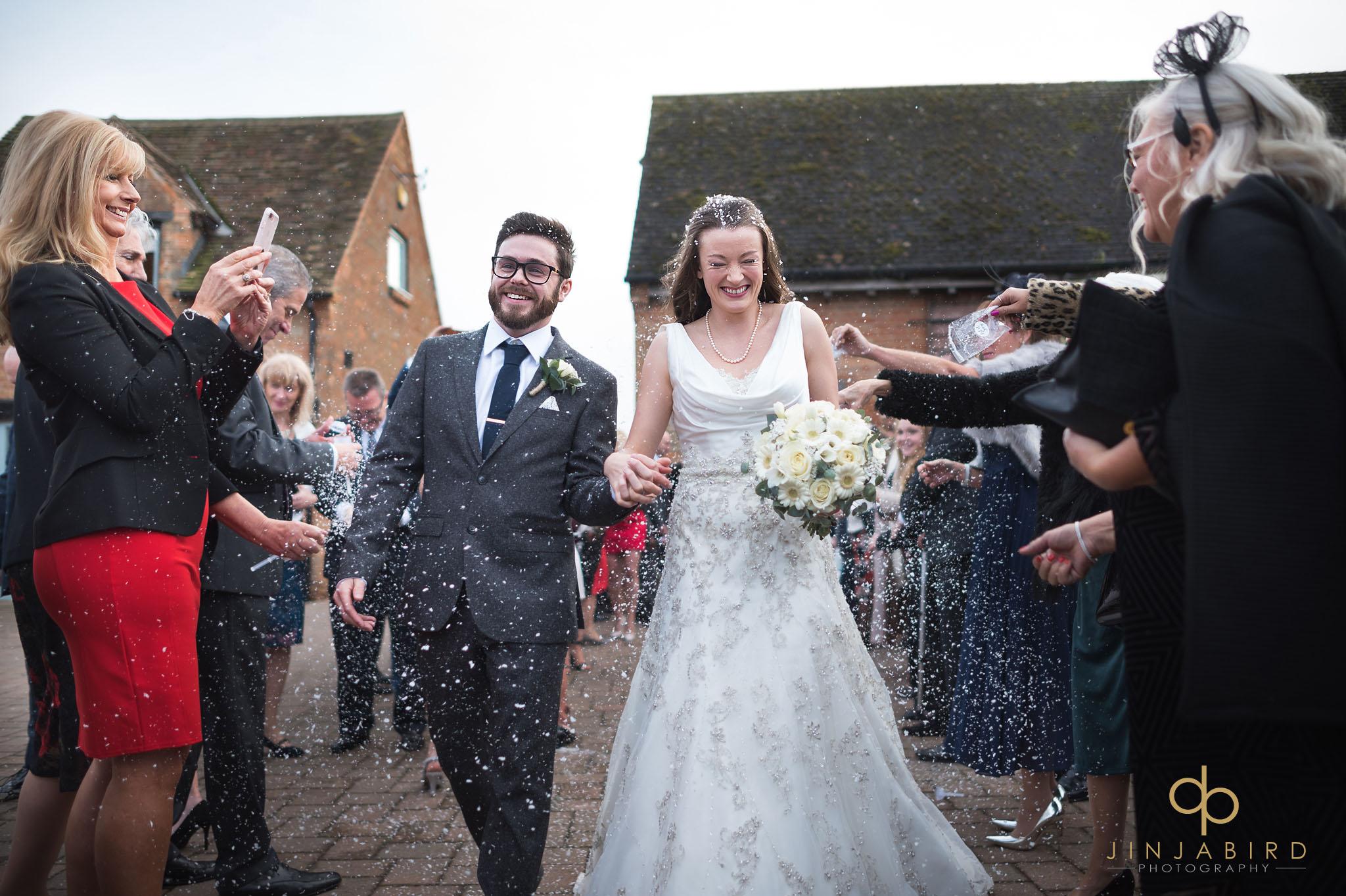 wedding confetti bassmead manor barns
