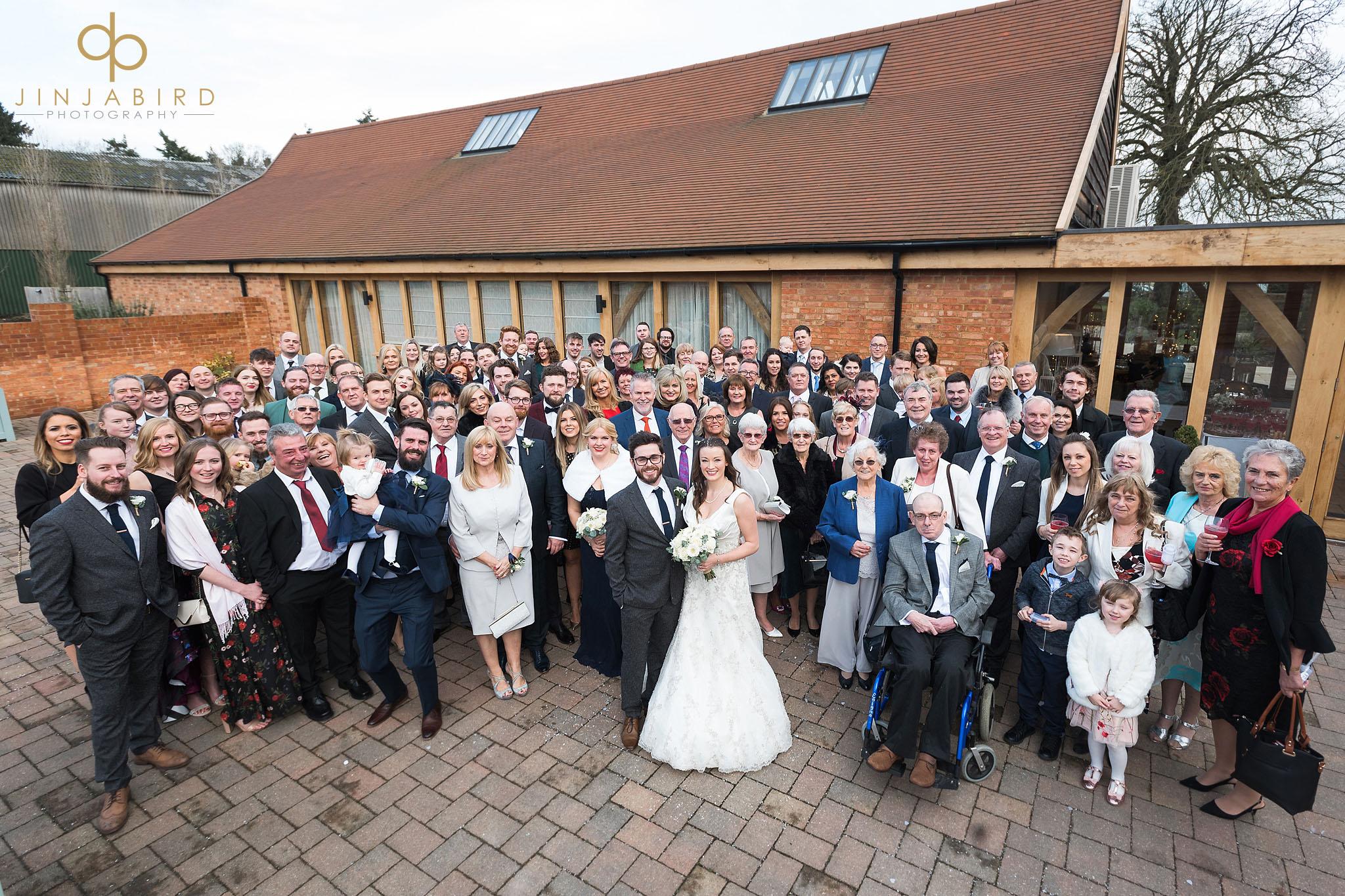 group photo bassmead manor wedding