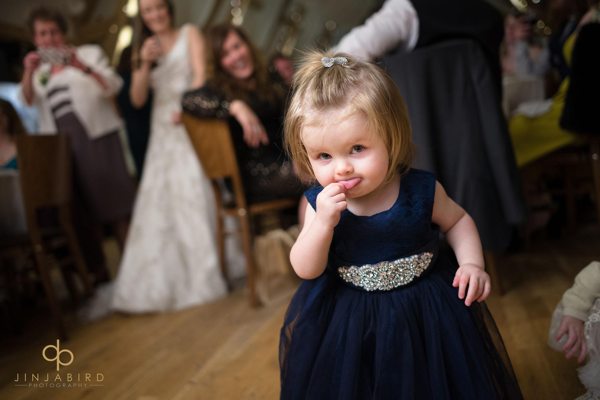 brides daughter dancing