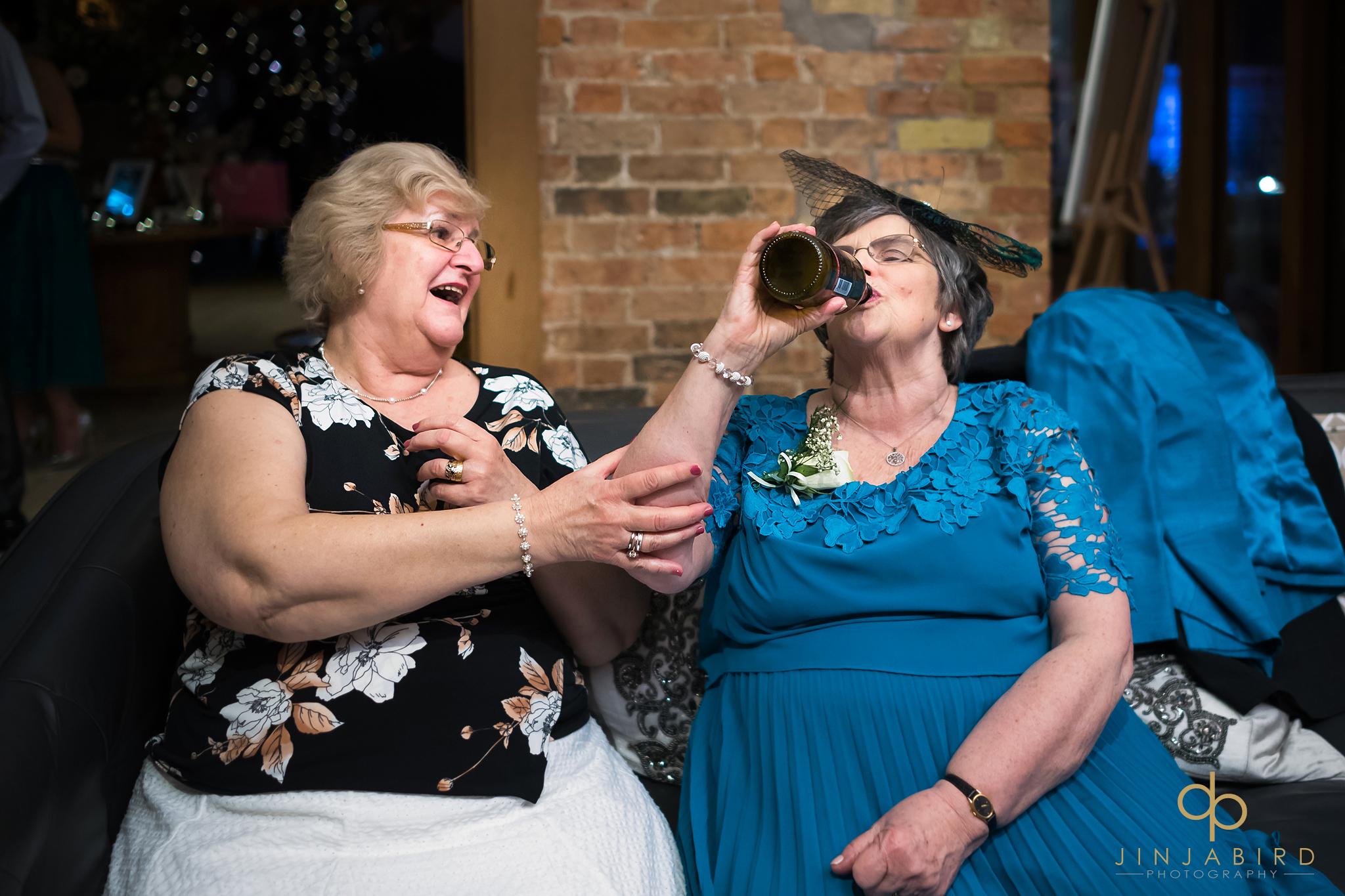 brides-mum-drinking-from-bottle