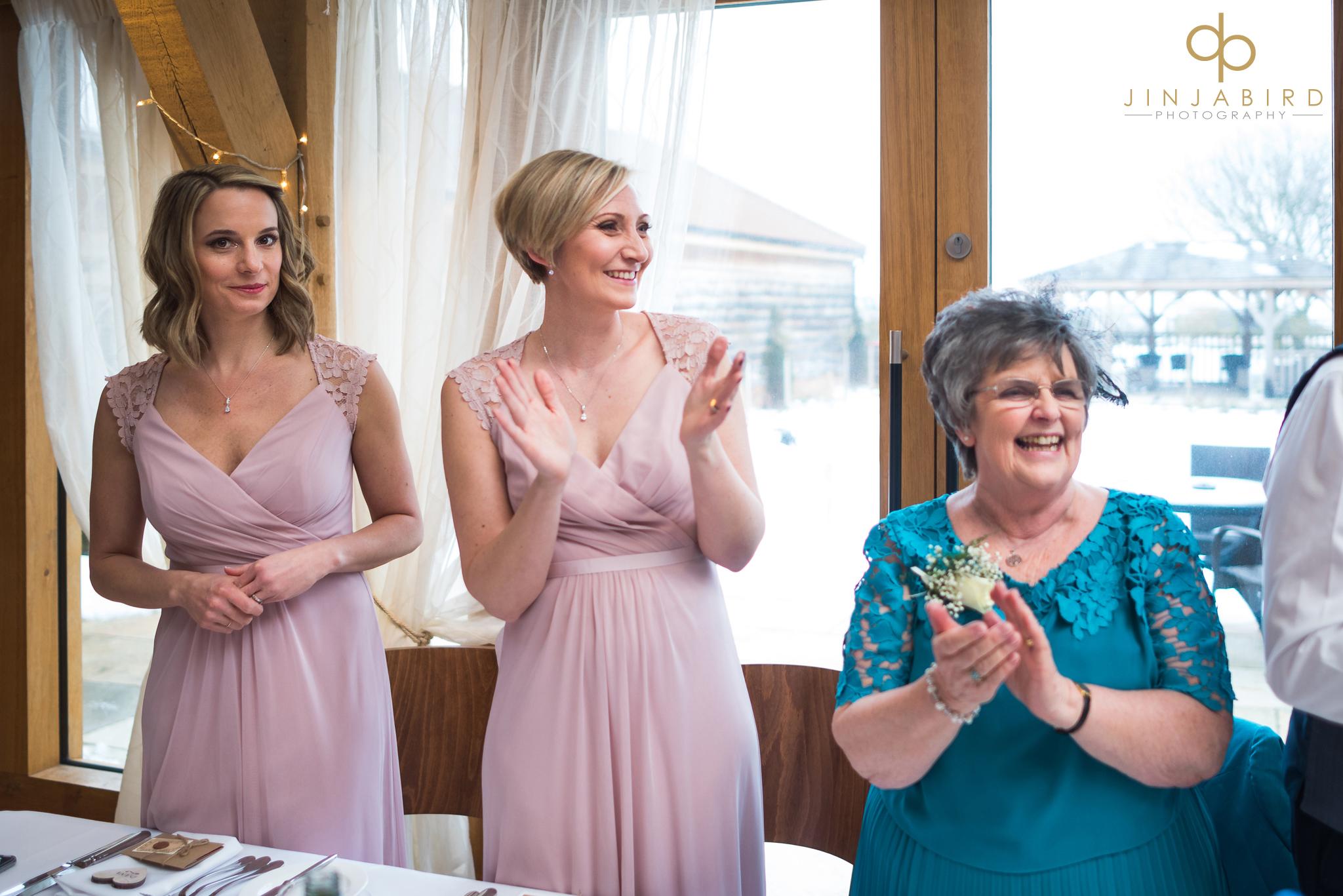 bridesmaid-clapping