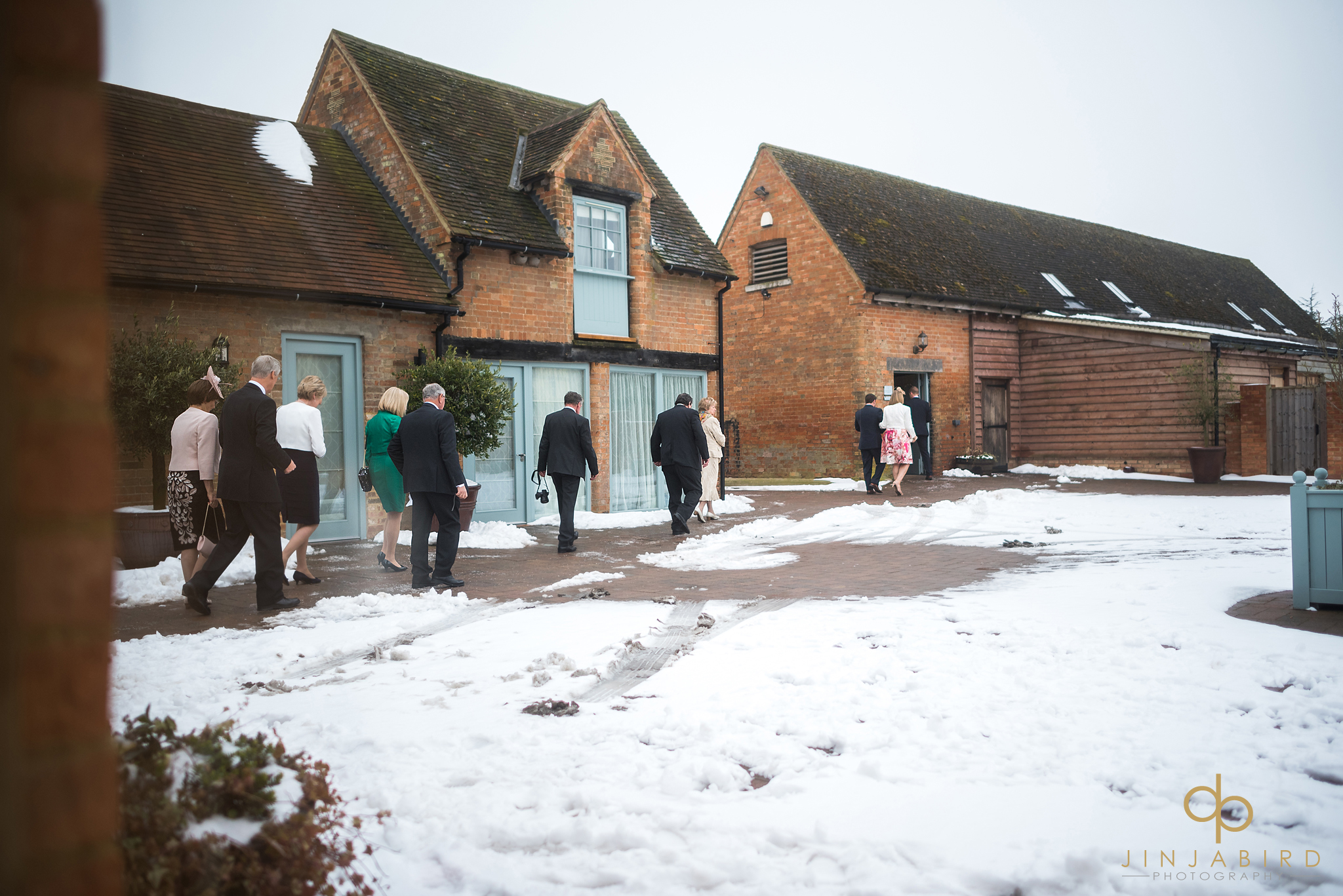 snowy wedding bassmead manor
