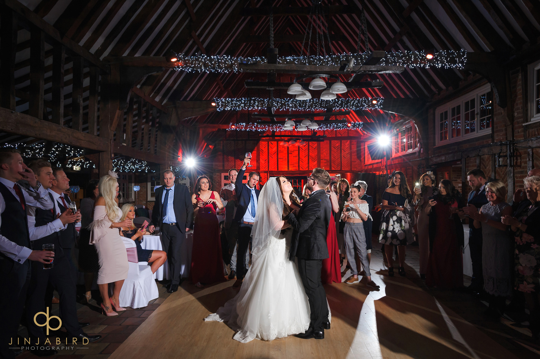 bride and groom first dance olde plough house bulphan