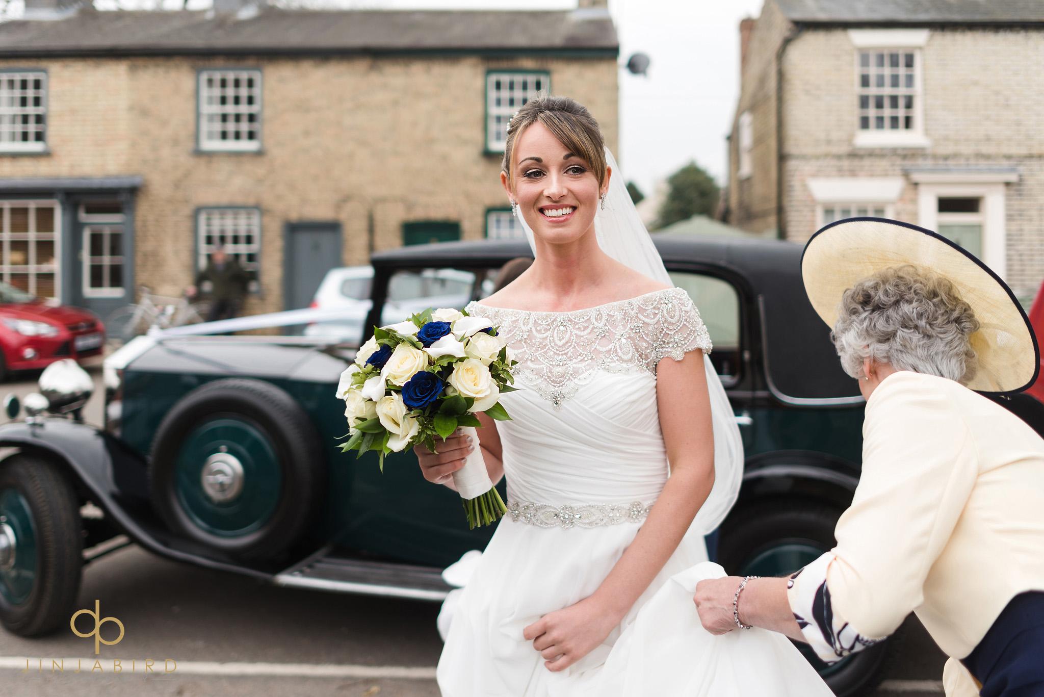 bride arriving somersham church