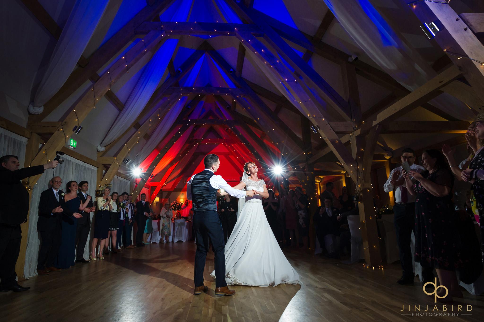 bride dances with groom