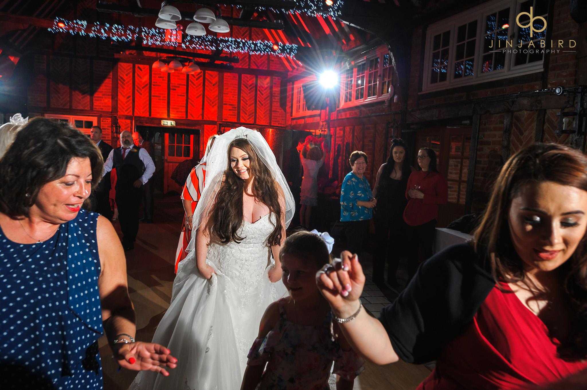 bride dancing ye olde plough house bulphan