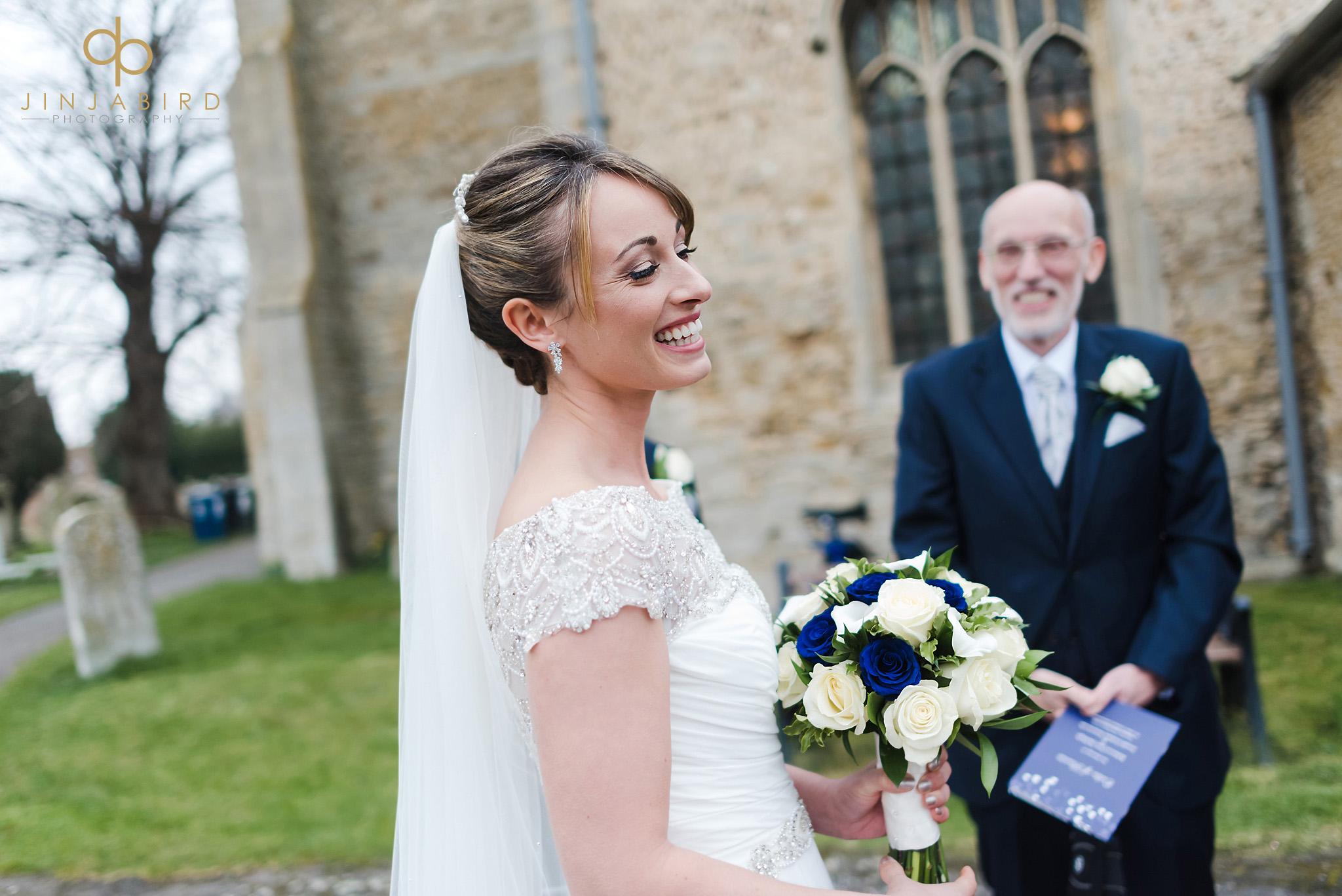 bride just married somersham church