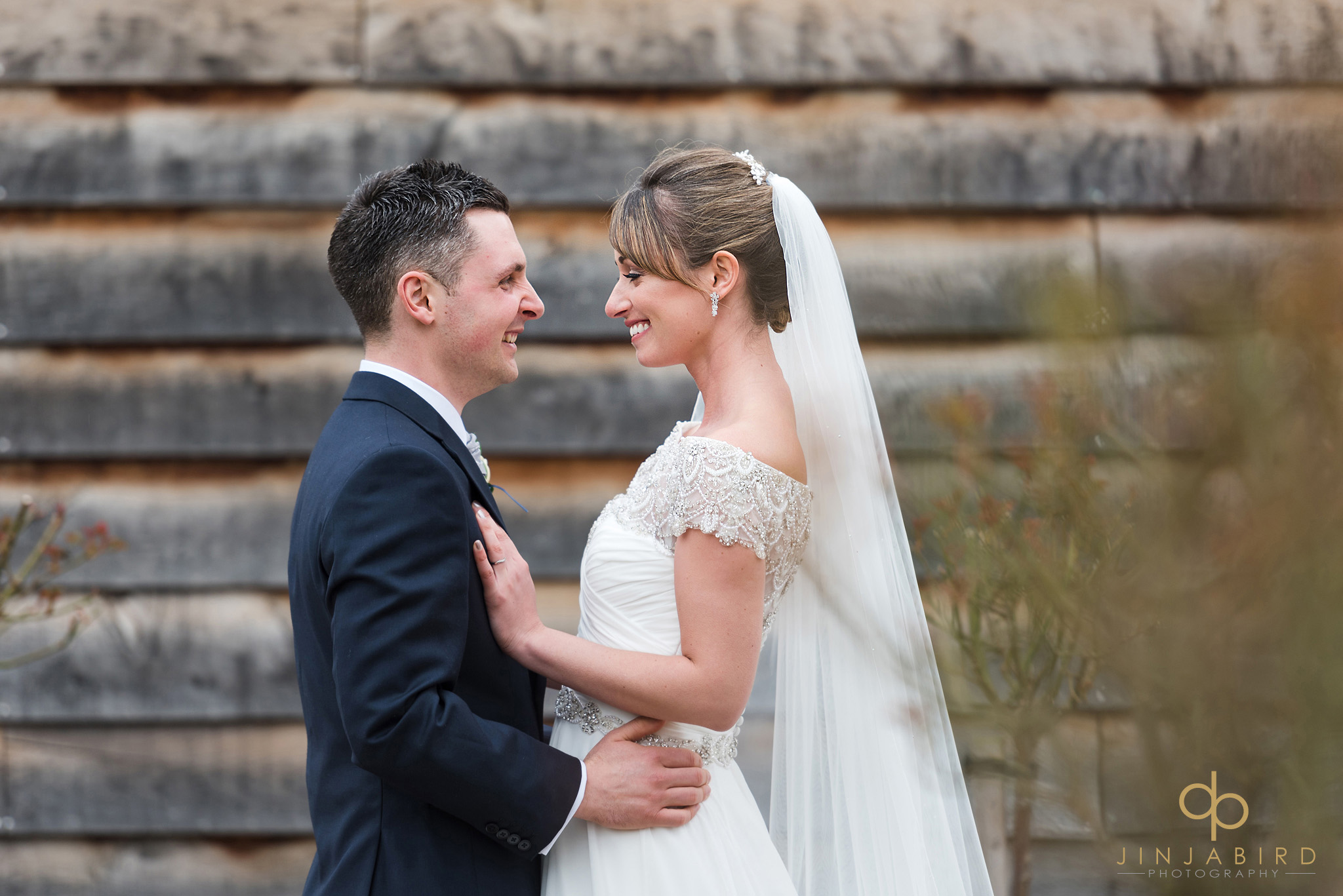 bride and groom bassmead manor