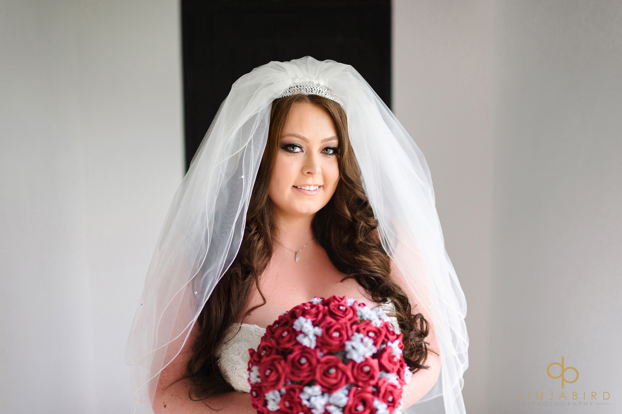 bride with bouquet olde plough house bulphan
