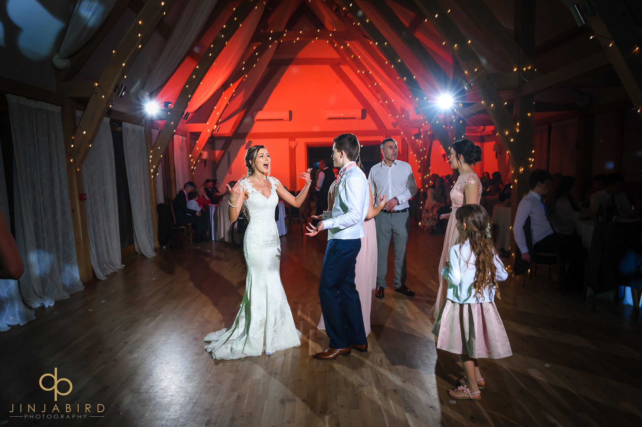 bride with groom dancing