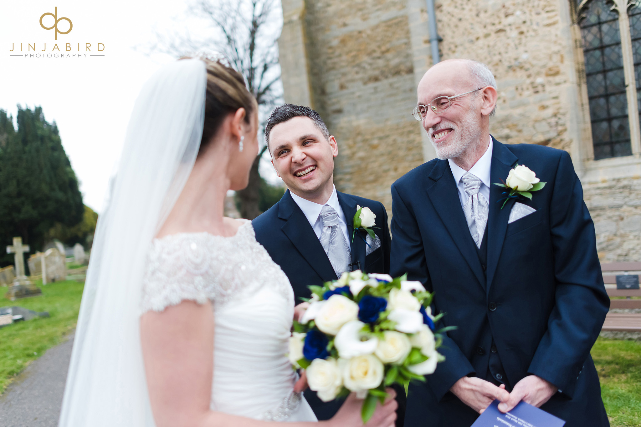 brides father with groom