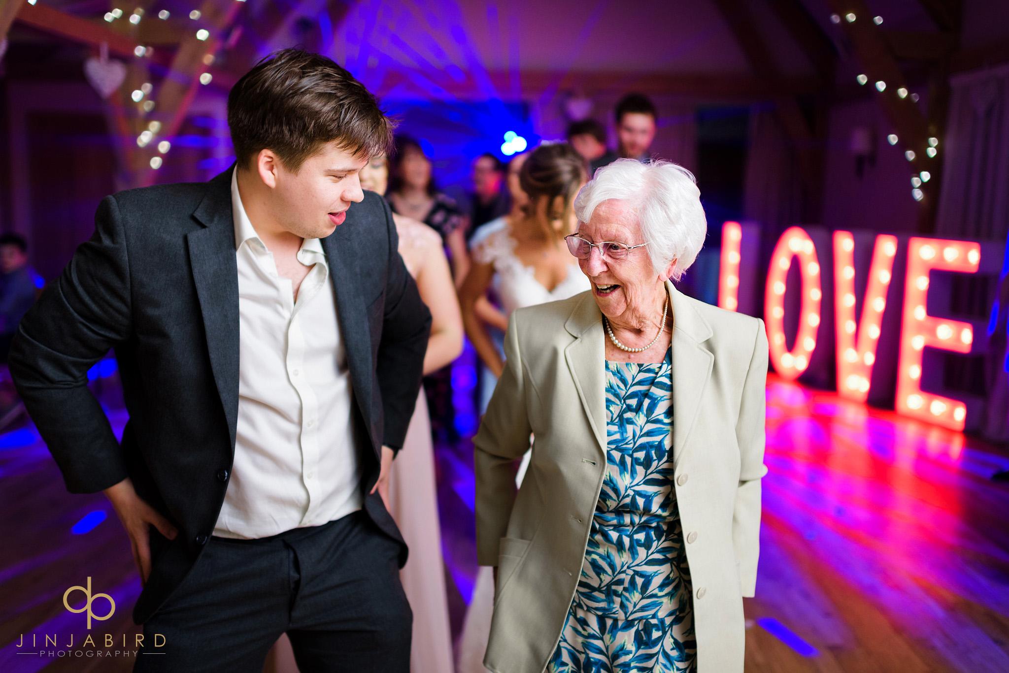 brides grandmother dancing