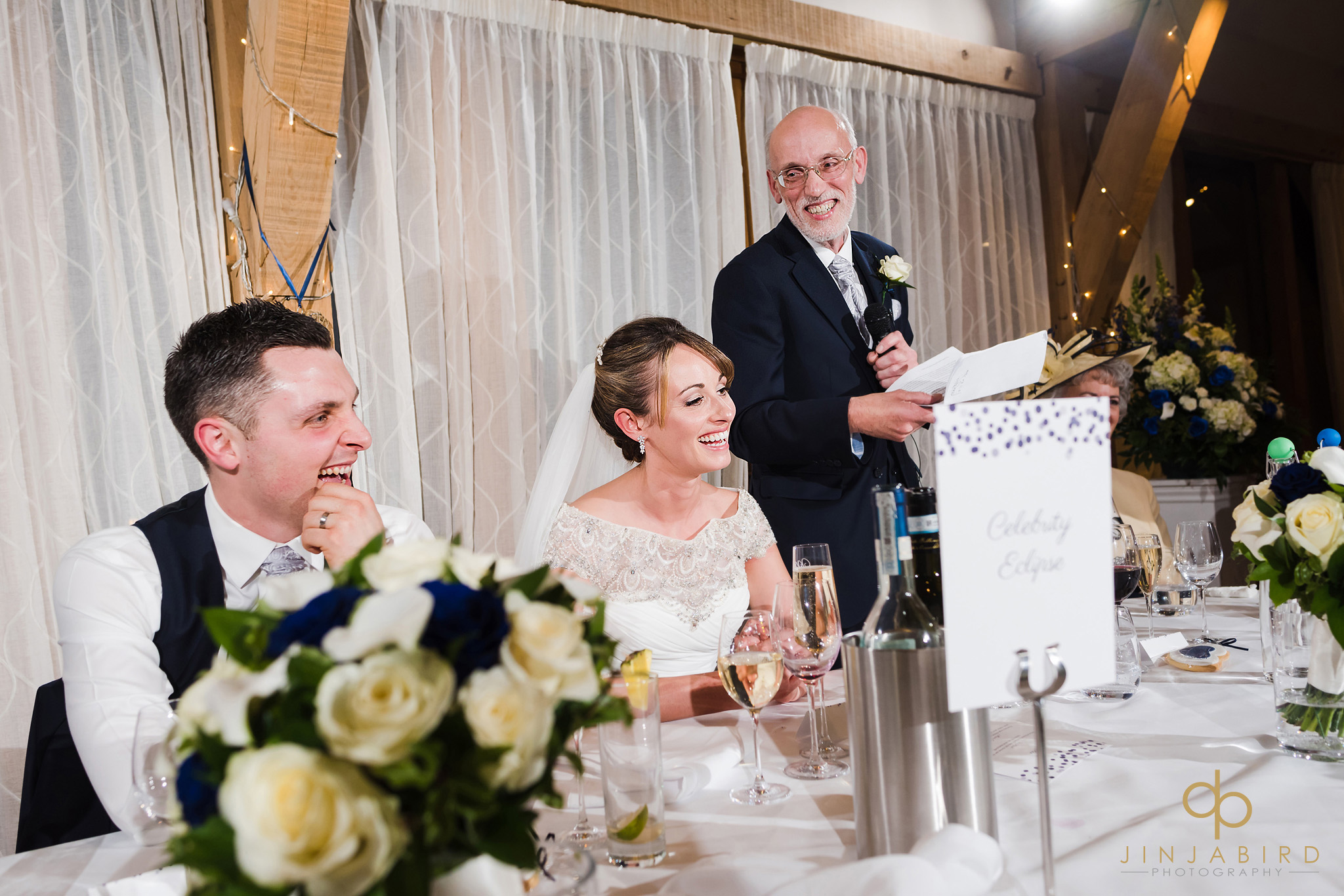 father making wedding speech