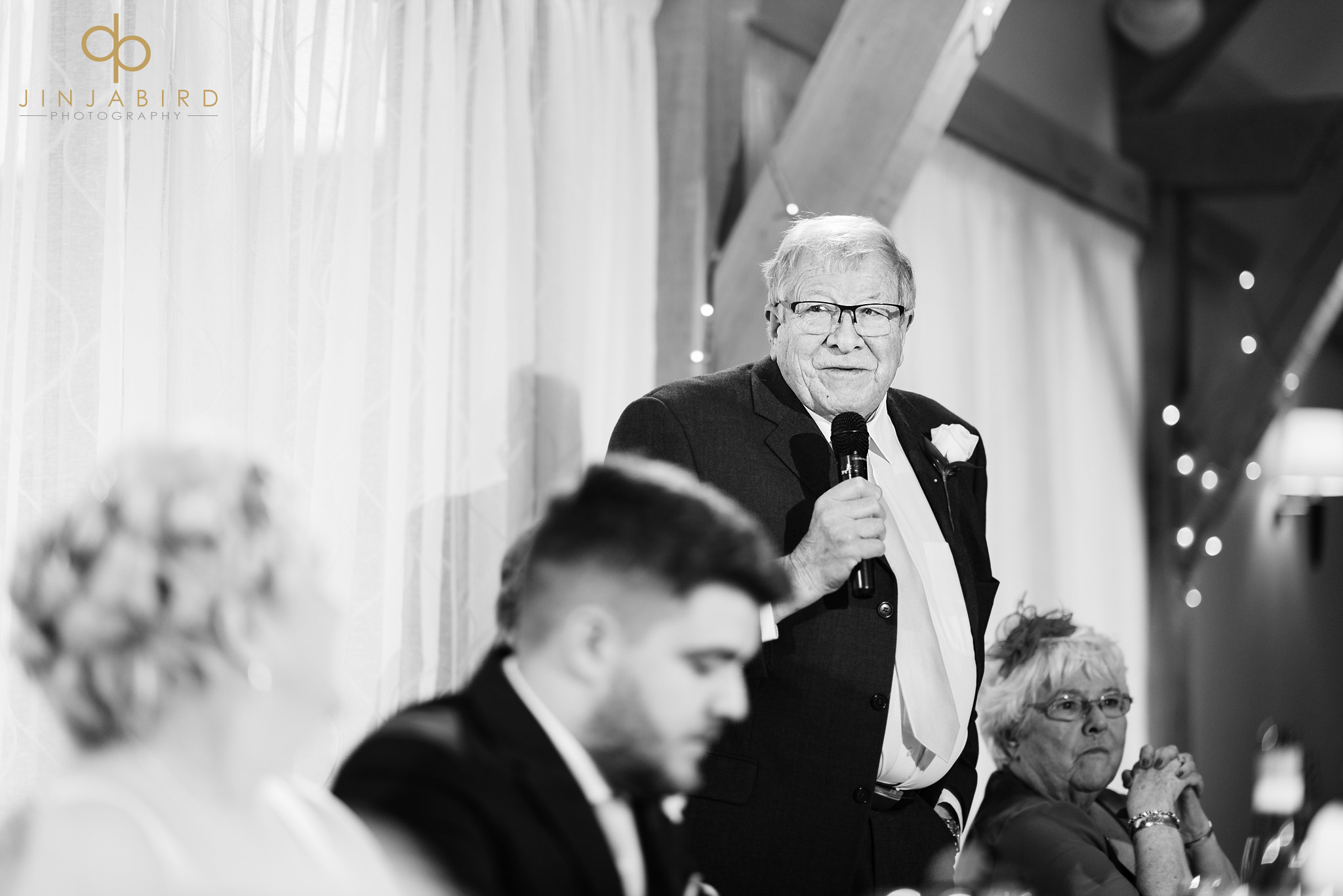 father of bride making speech