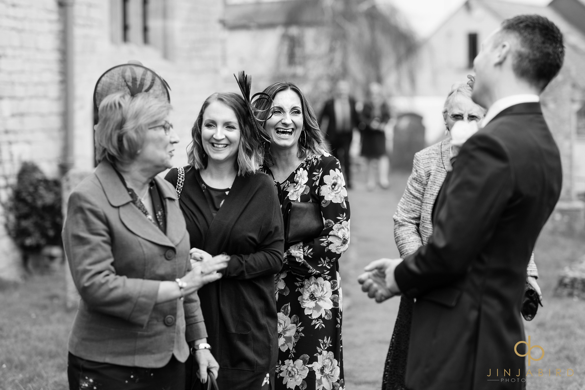 groom meeting guests somersham church
