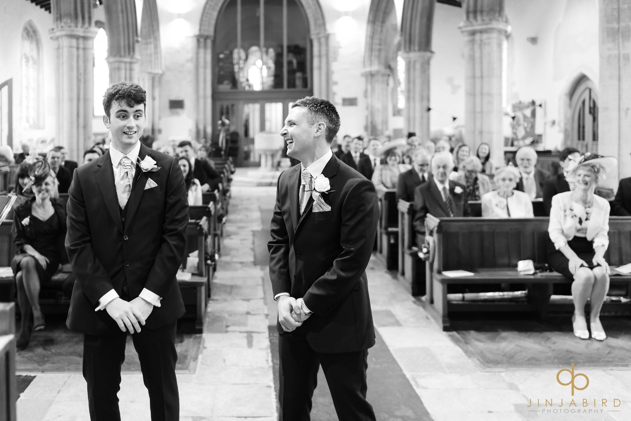 groom and bestman somersham church
