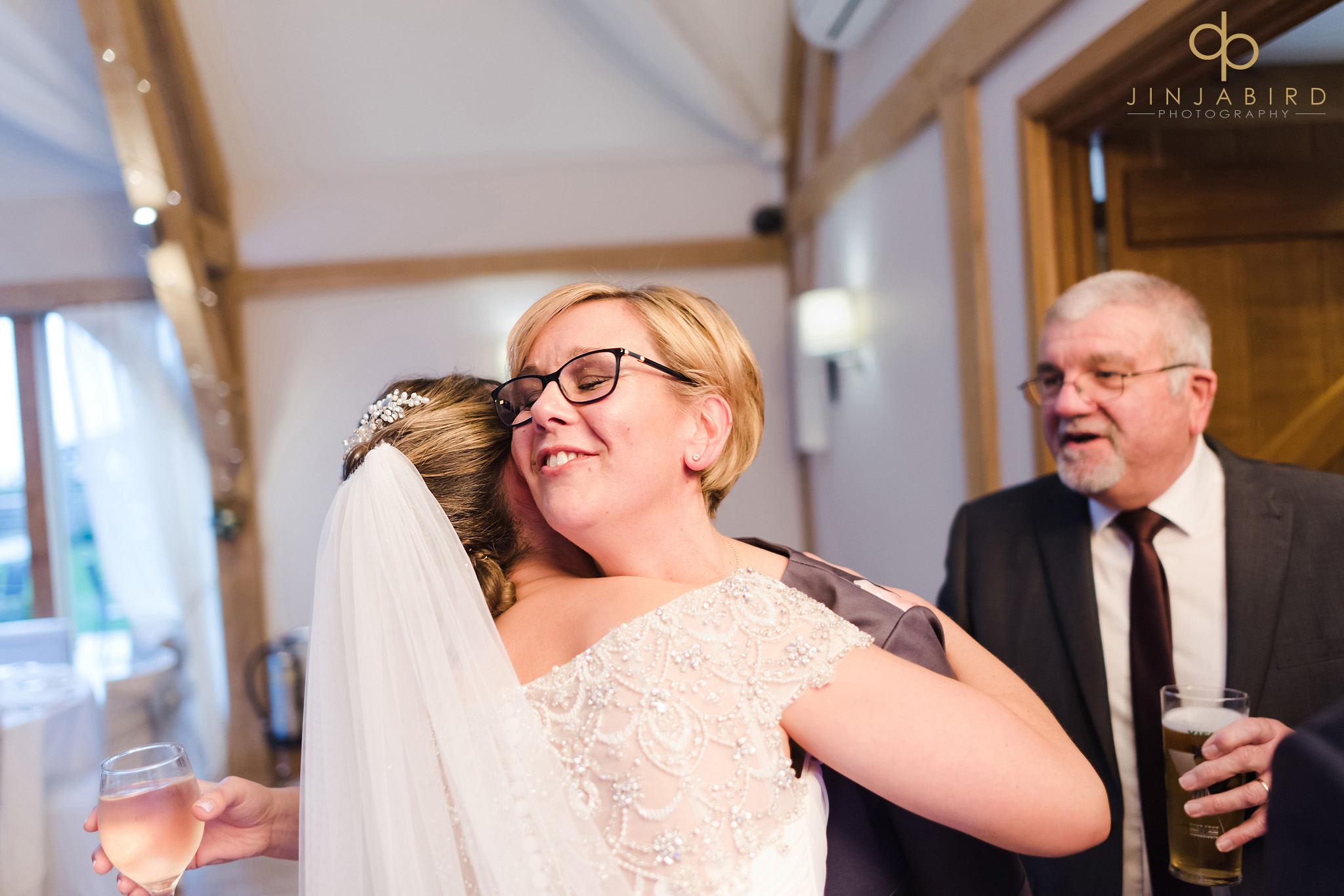 wedding guest in receiving line