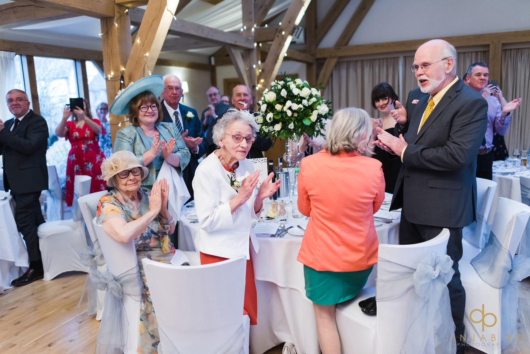 guests greeting bride and groom for wedding breakfast