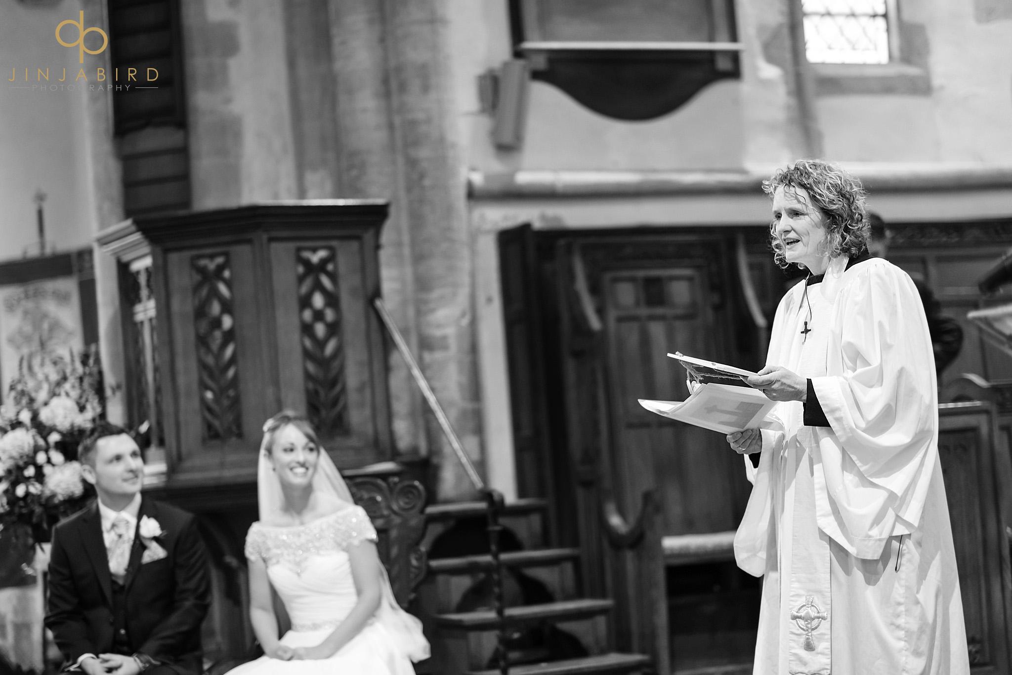 wedding at somersham church