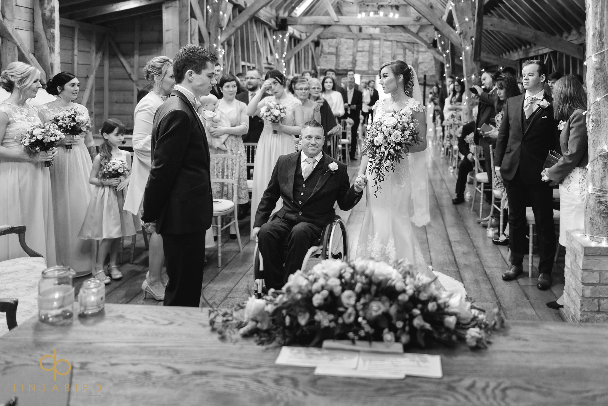 wedding ceremony rickety barn bassmead