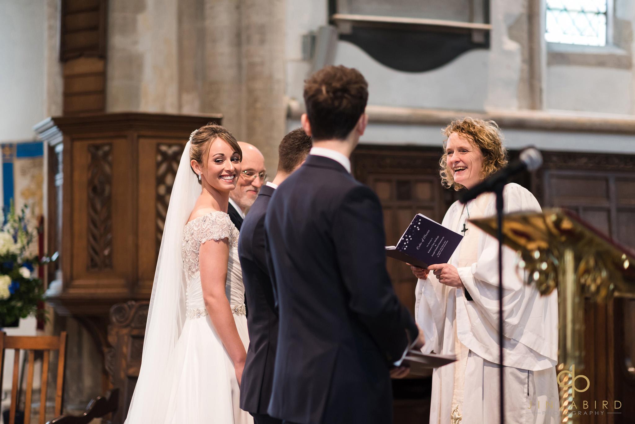 wedding ceremony somersham church