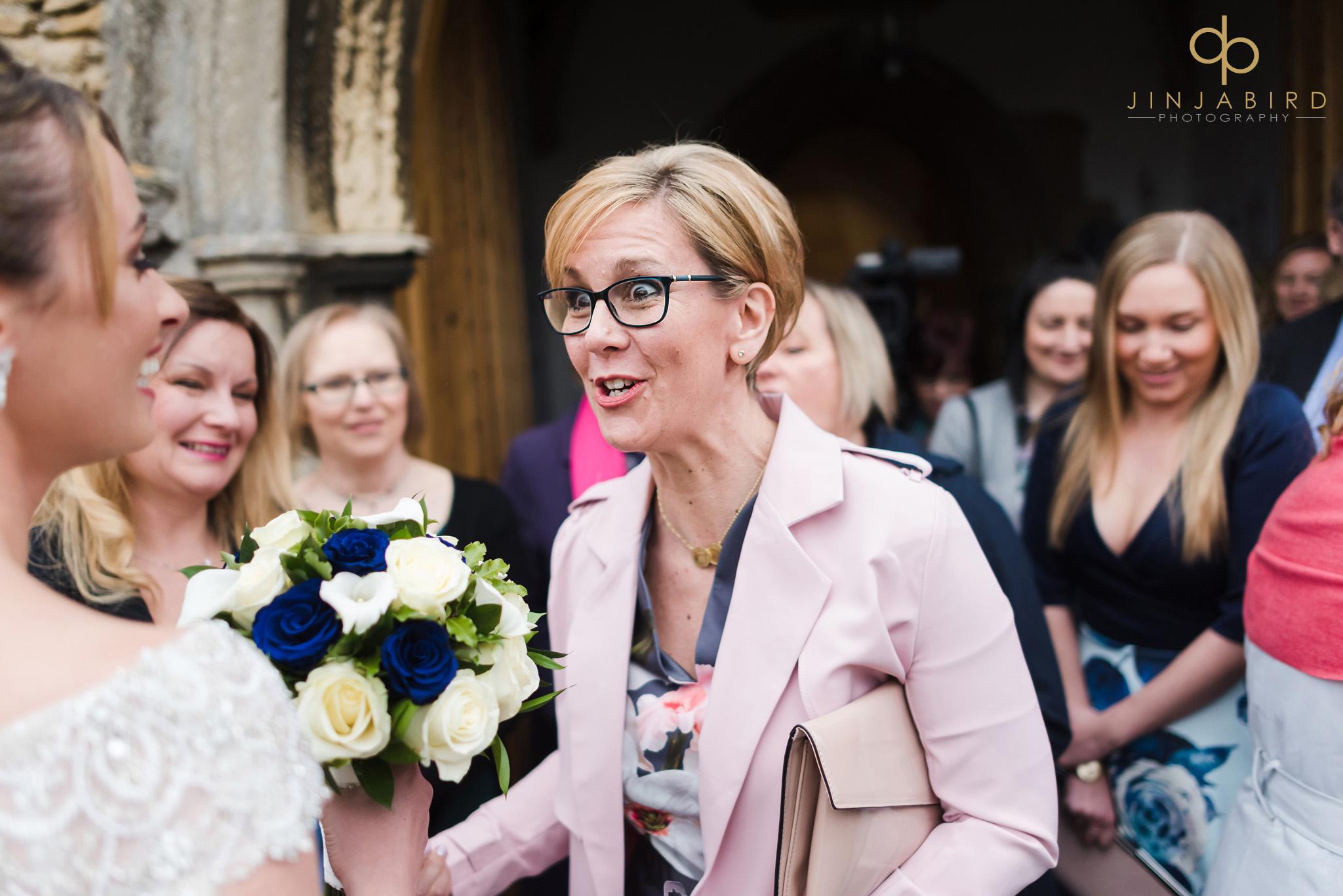 wedding guest with bride