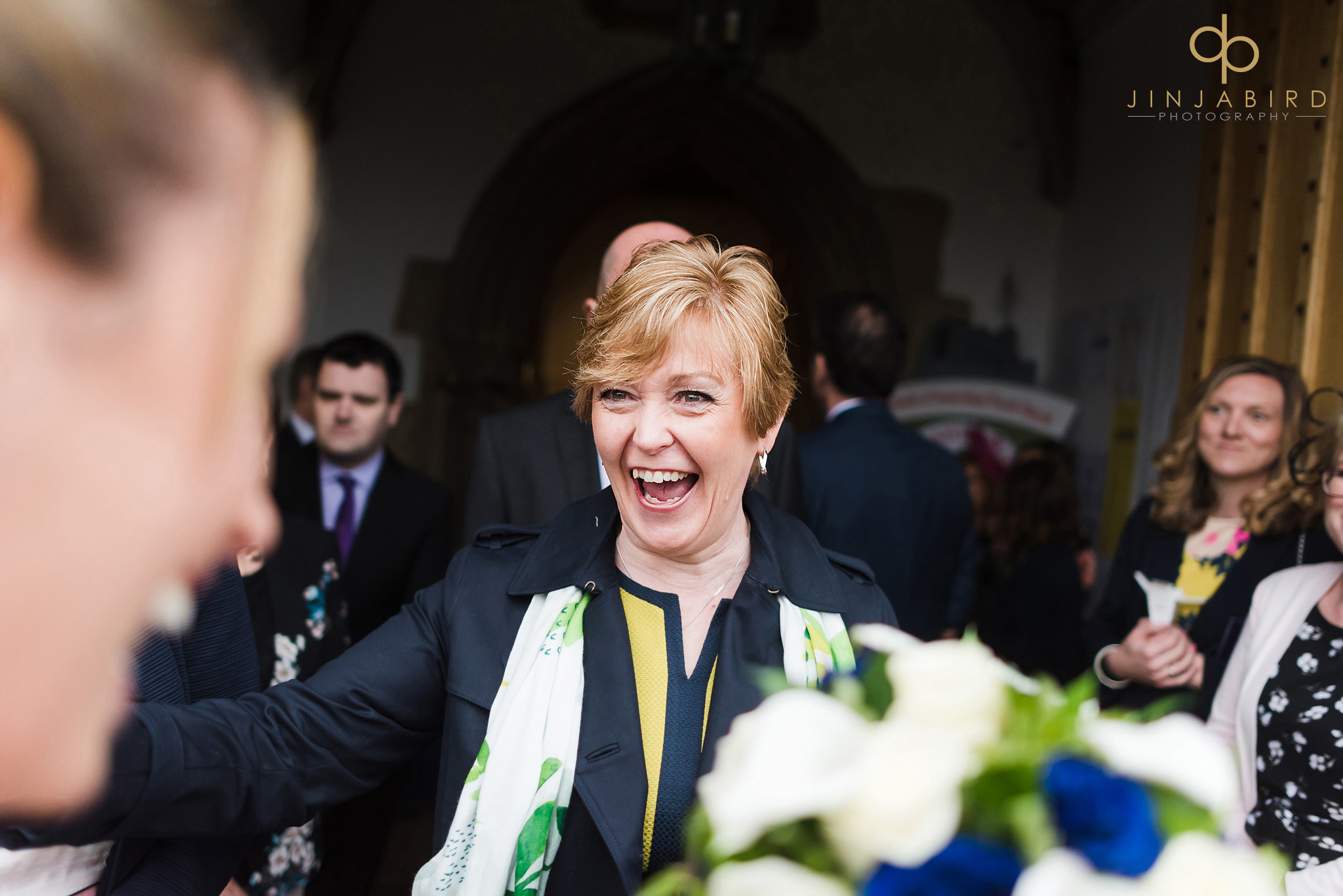 wedding guest congratulating bride