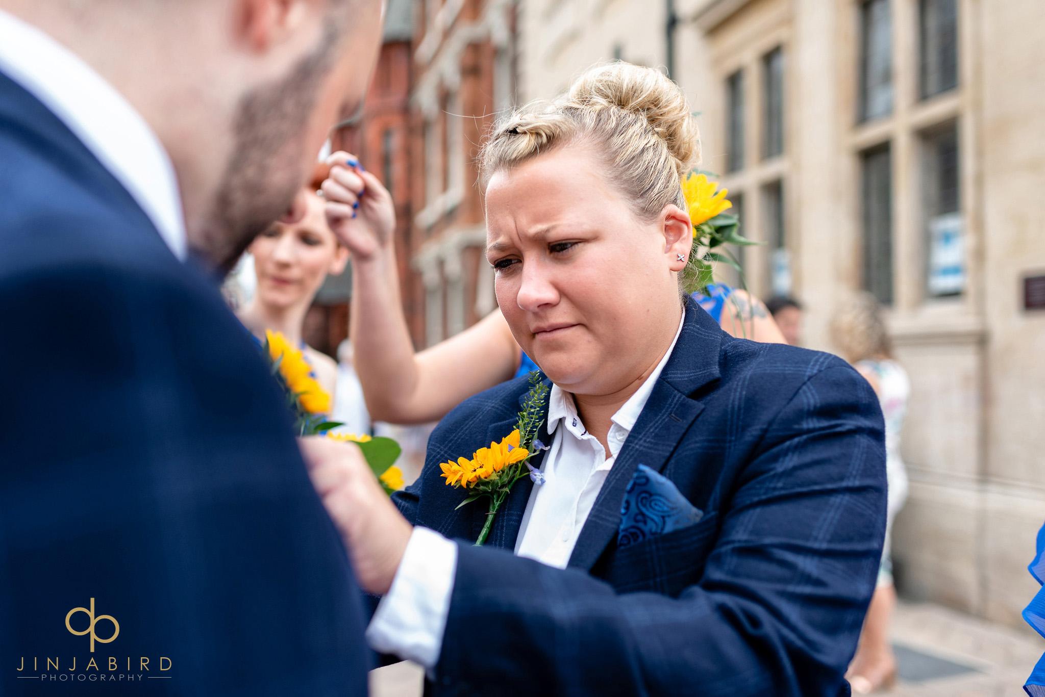 best lady at gay wedding