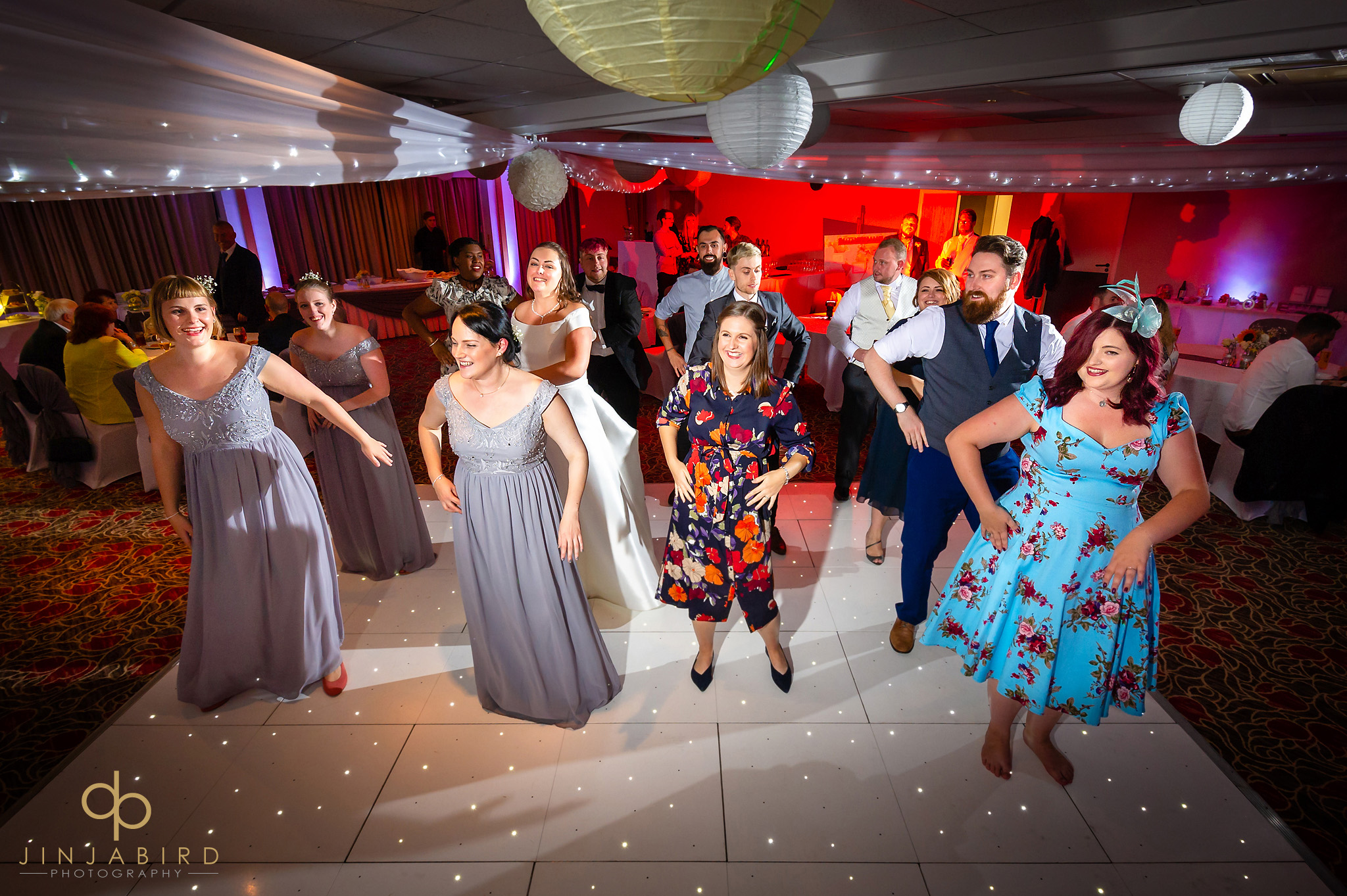 bride dancing with guests hellidon lakes