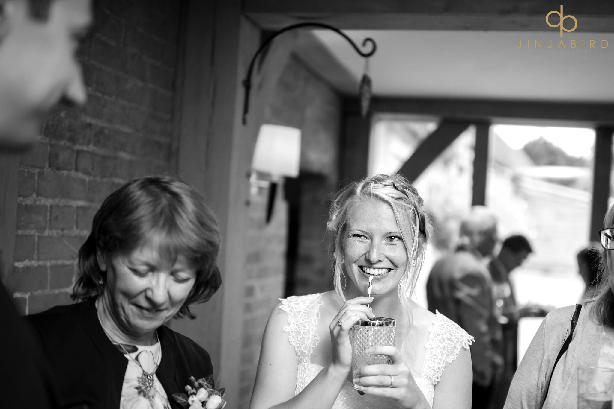 bride drinking cocktails