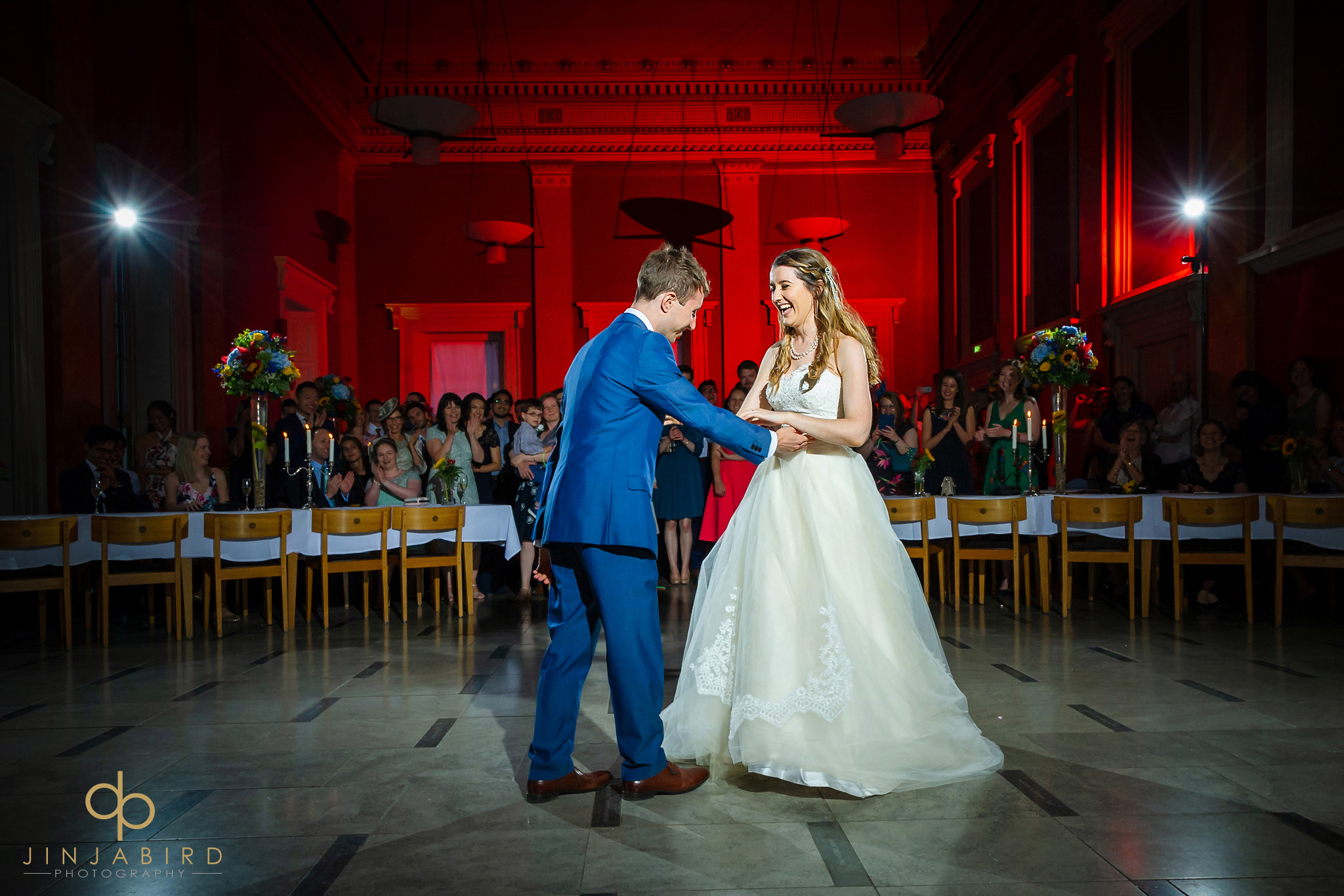 bride with groom first dance downing college