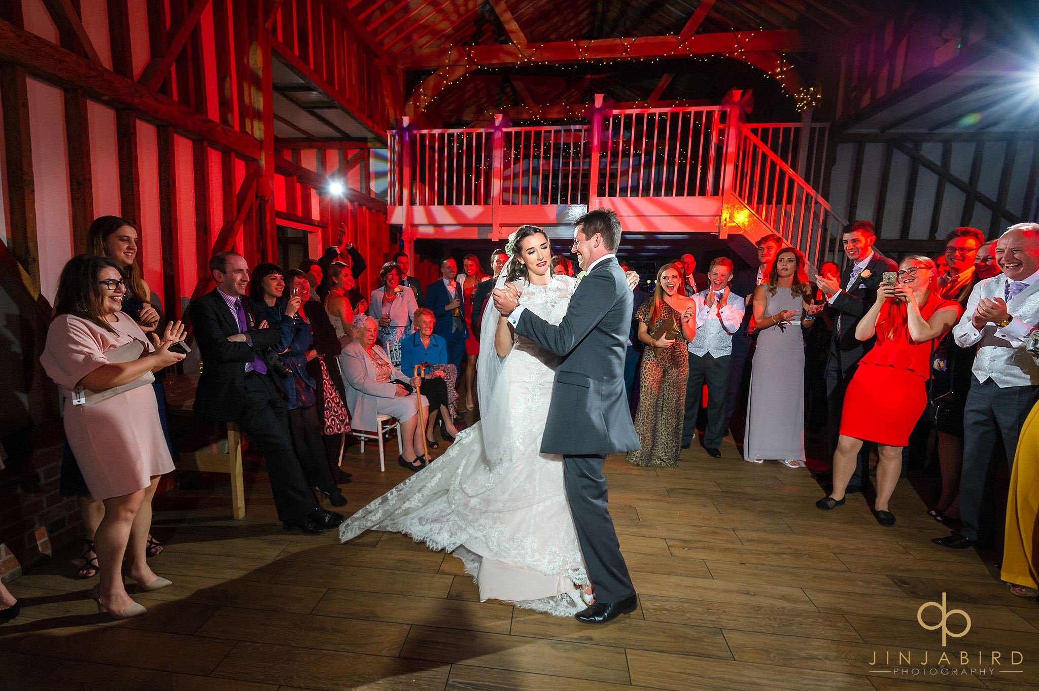 bride with groom first dance milling barn