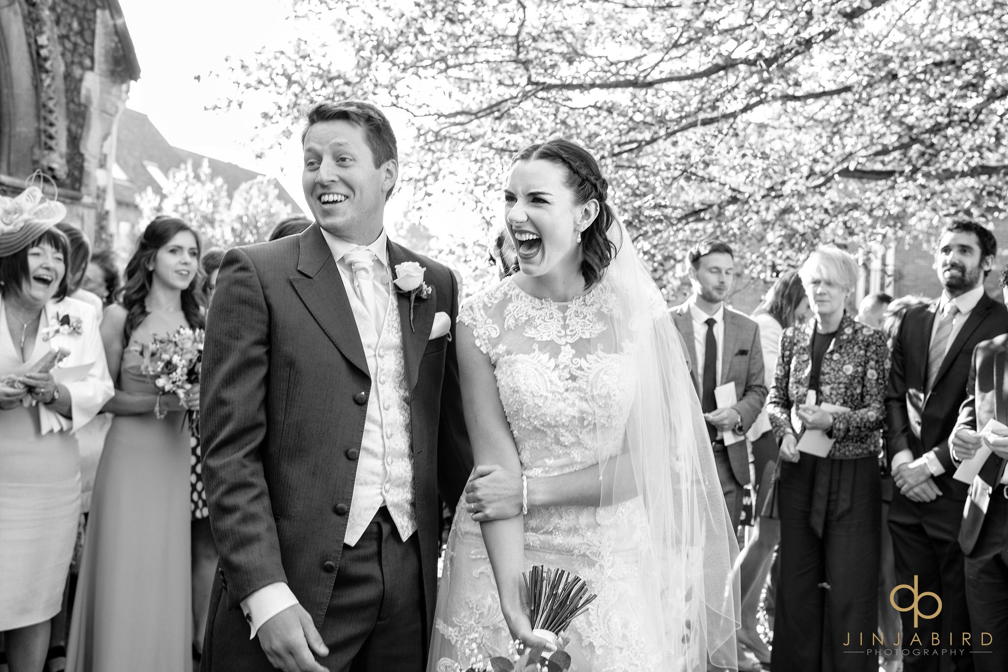 bride with groom st-andrews hertford