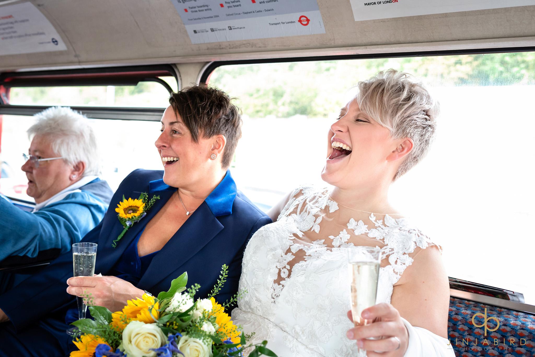 brides on bus