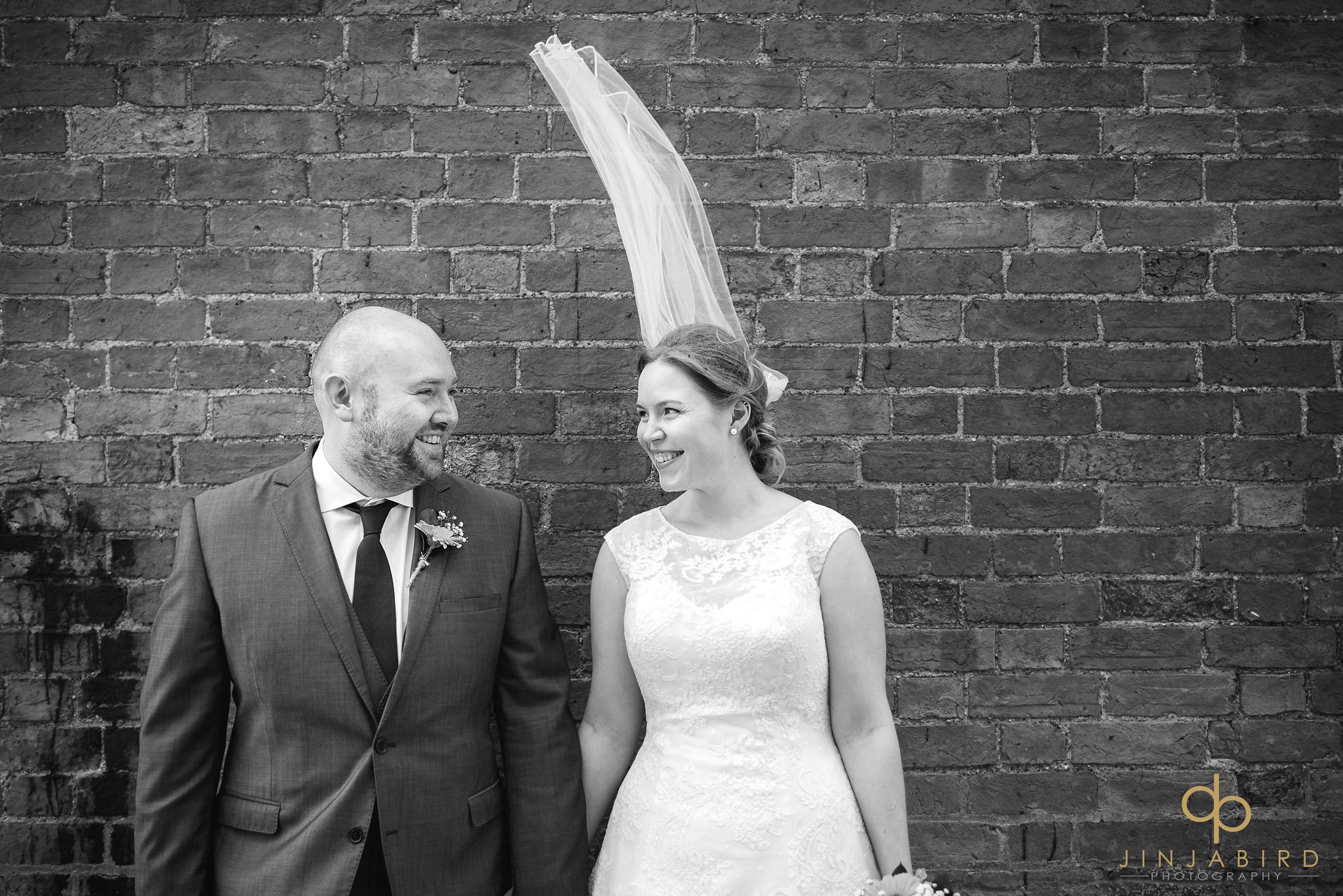 brides veil in wind bassmead