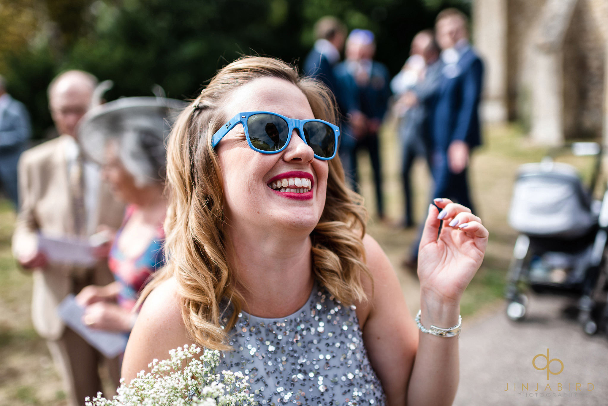 brides-maid in sunglasses
