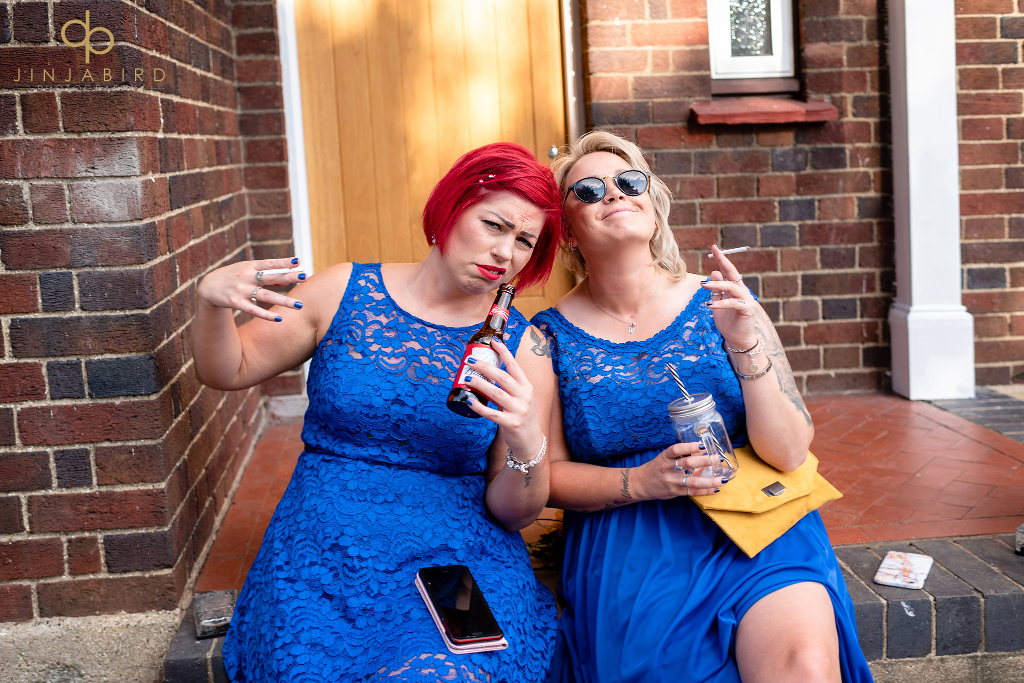 bridesmaids smoking