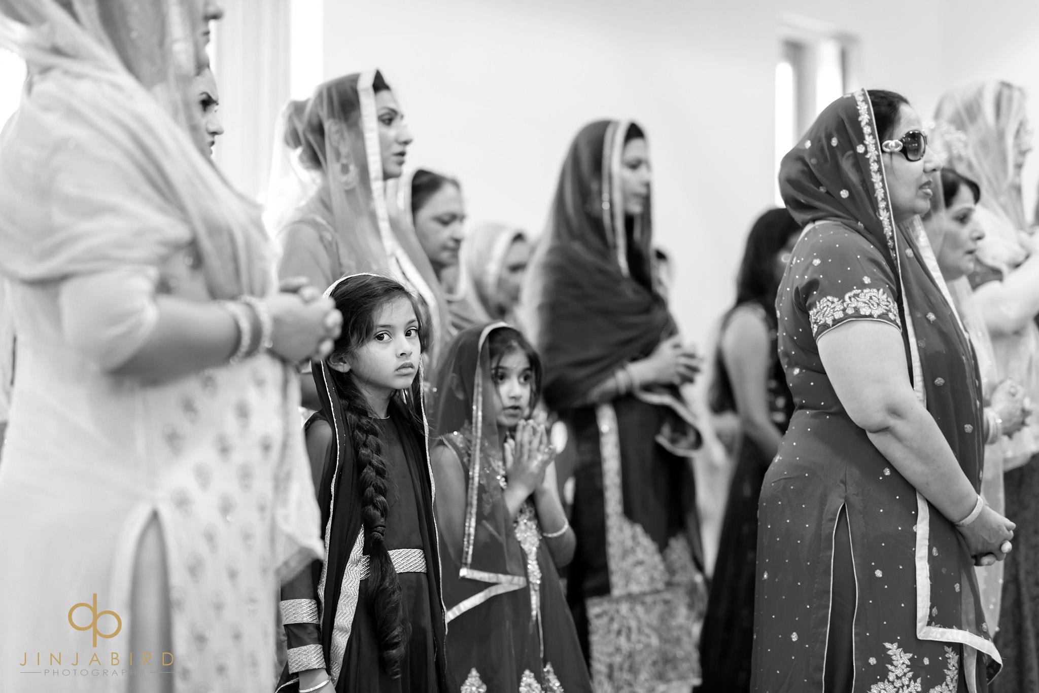 children watching wedding