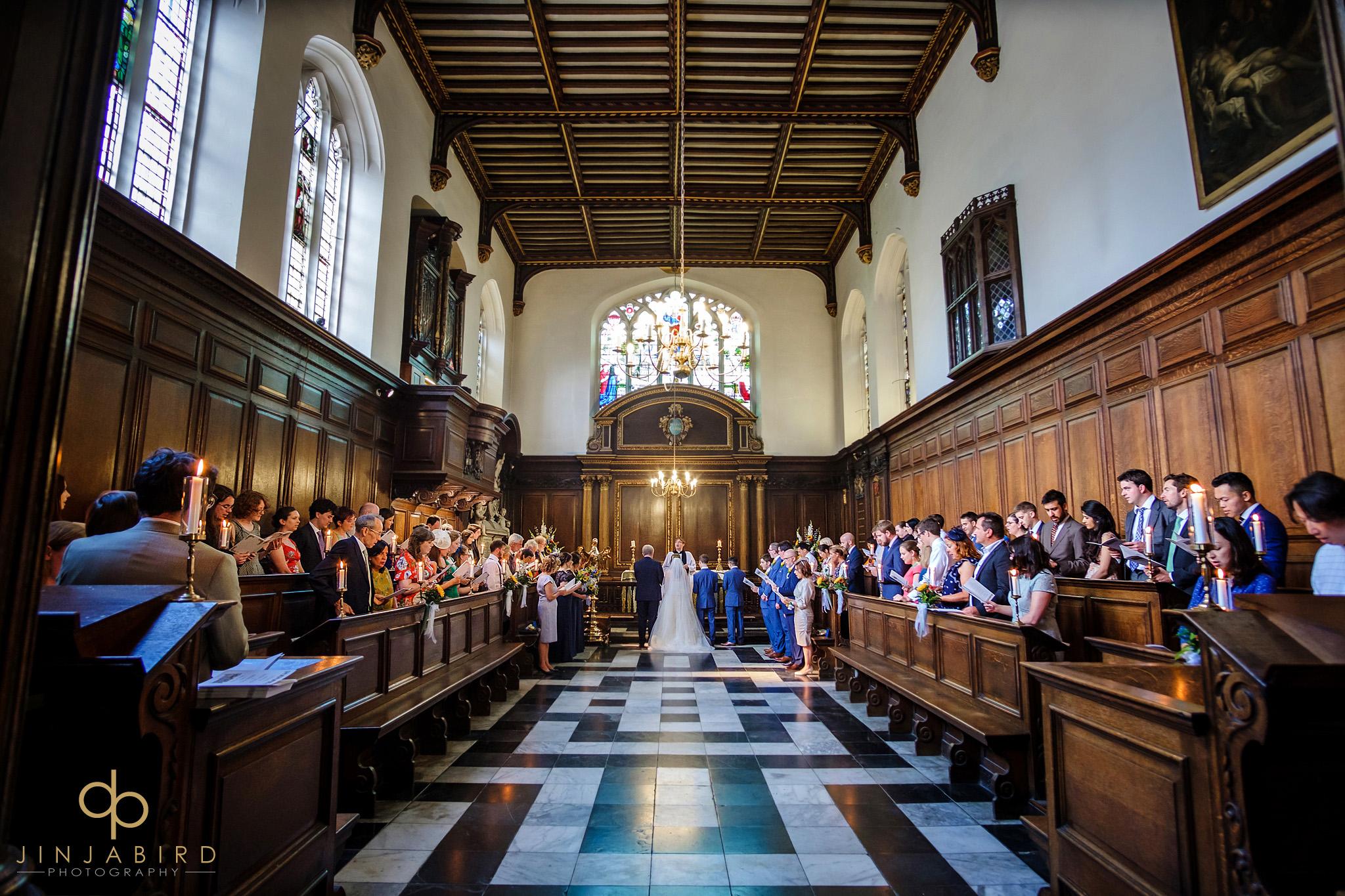 christs college wedding ceremony