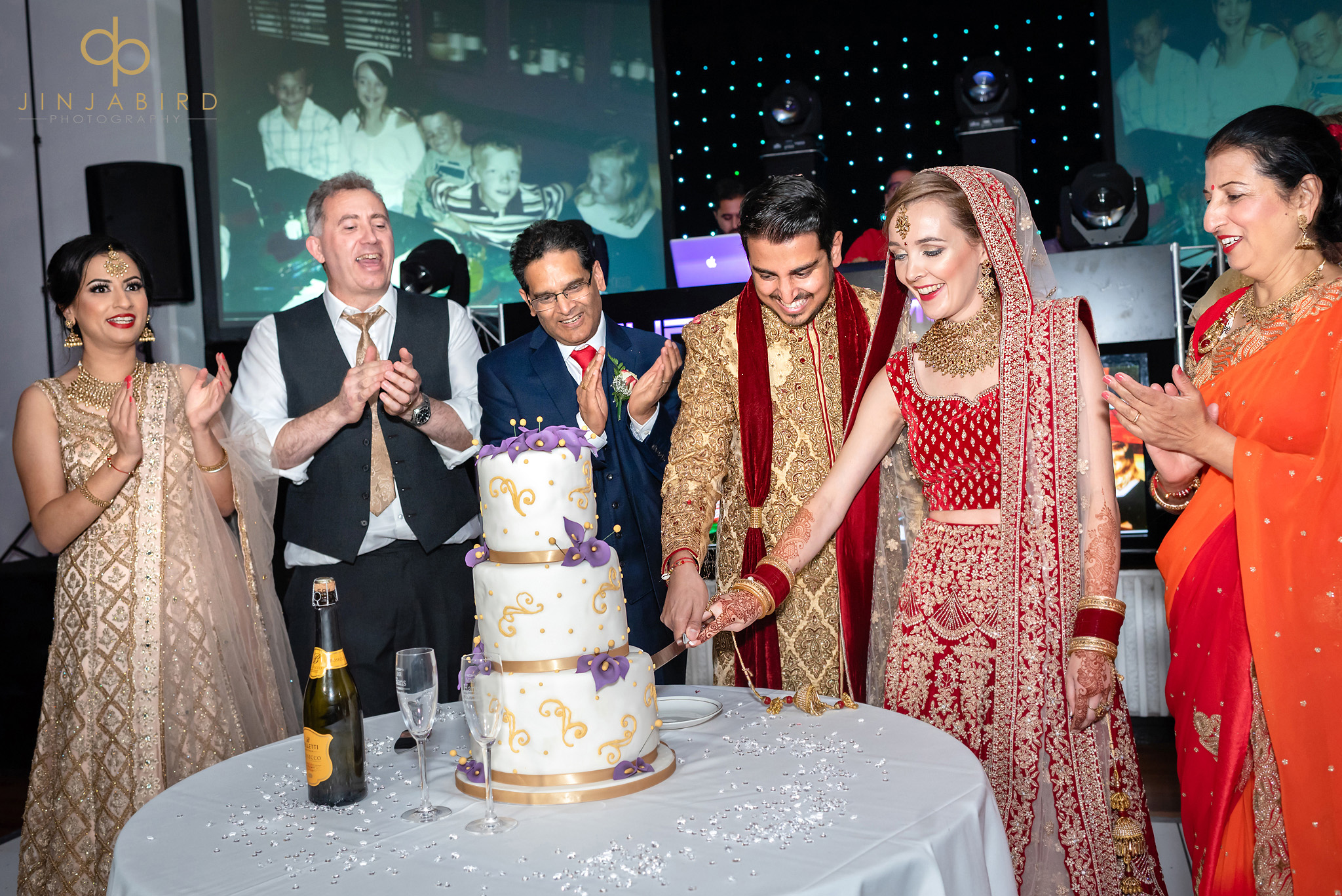 cutting cake sikh wedding