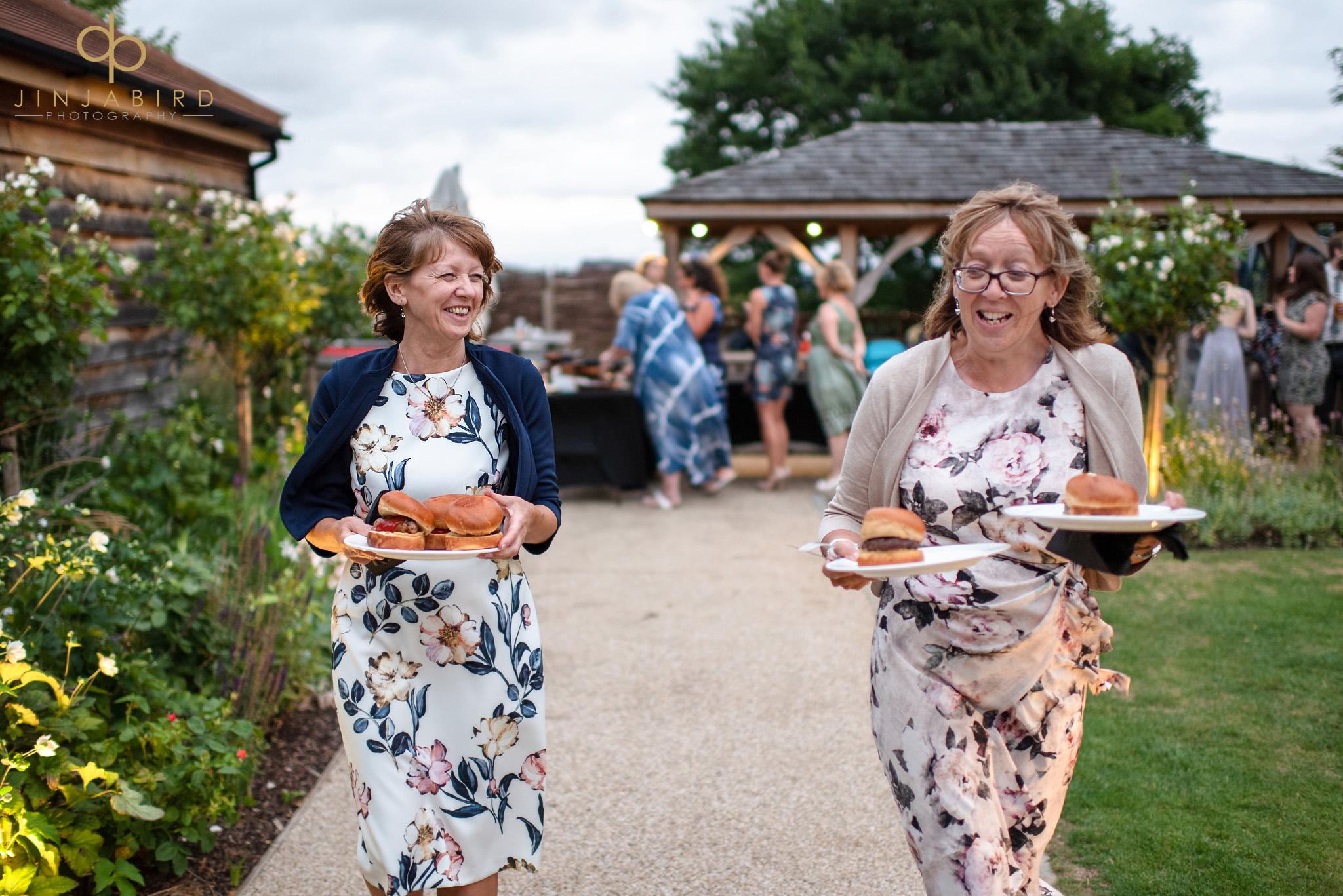 evening wedding food bassmead manor