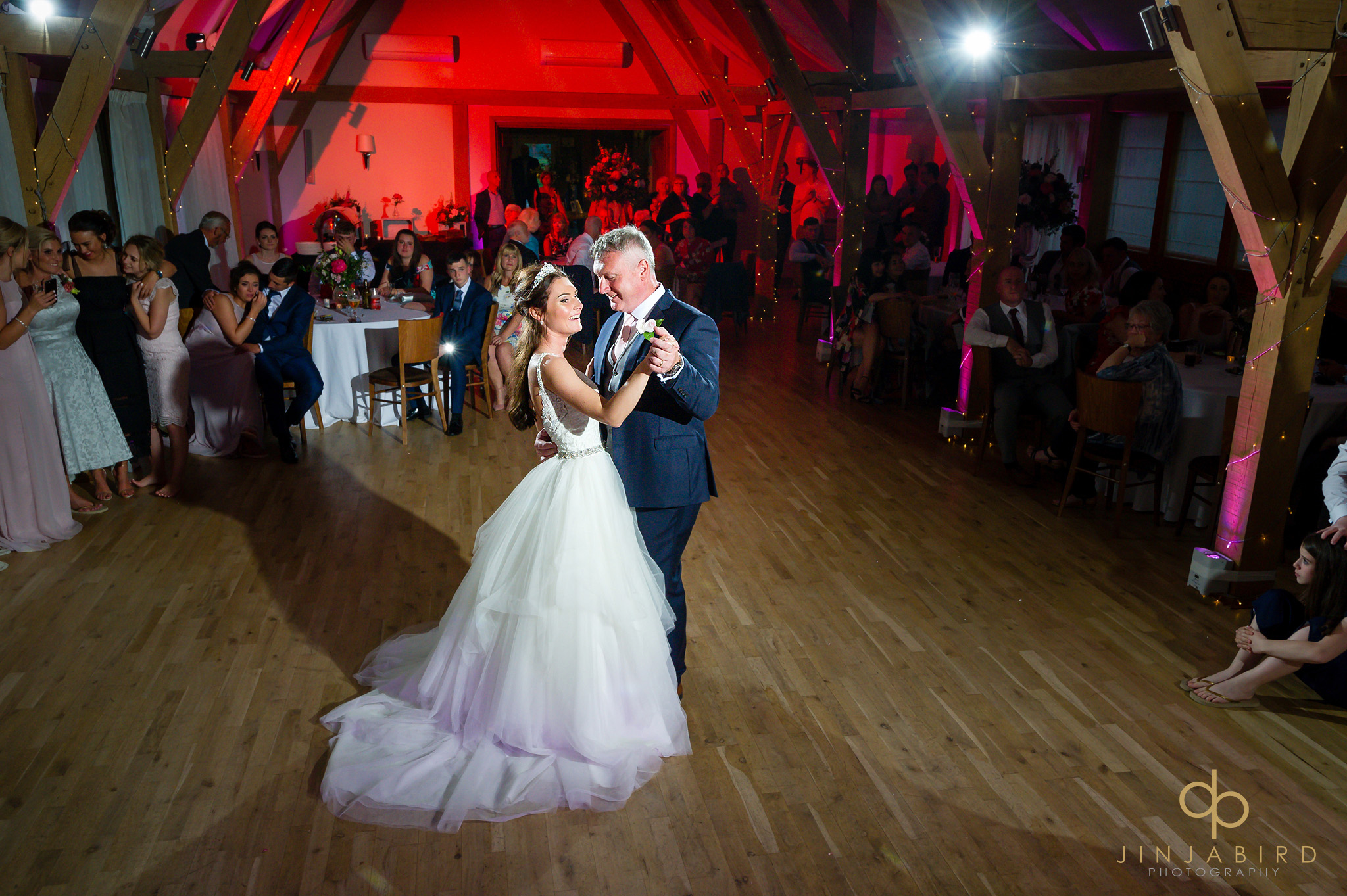 father dancing with bride