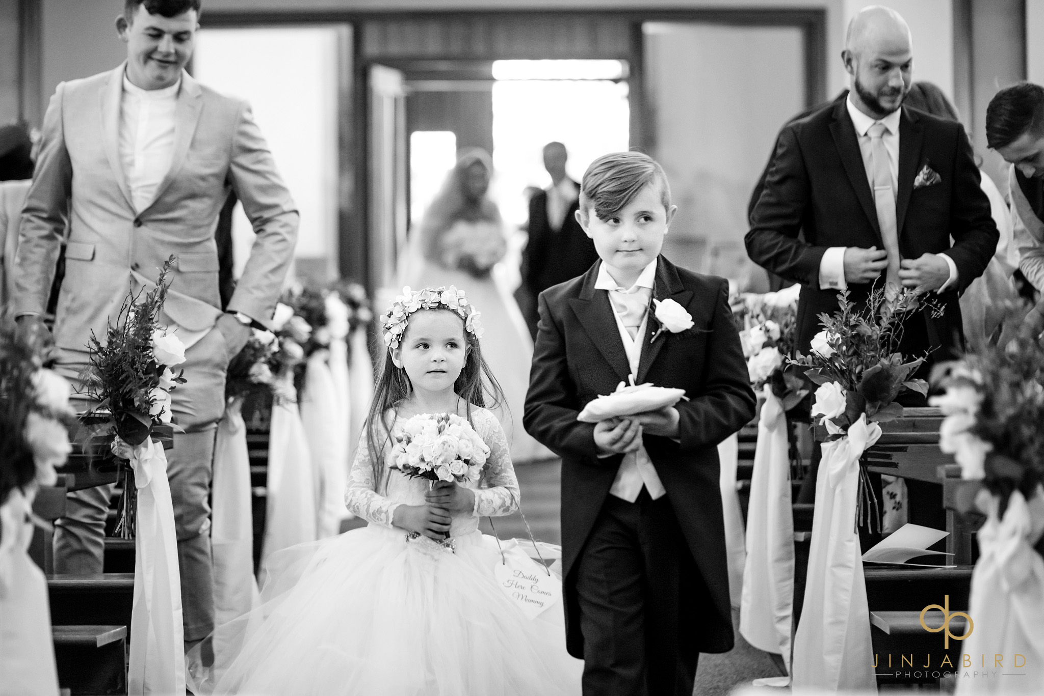 flower-girl with pageboy st-josephs church gerrards cross
