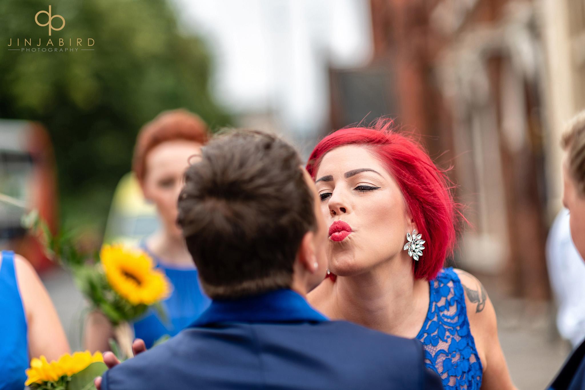 gay bridesmaid