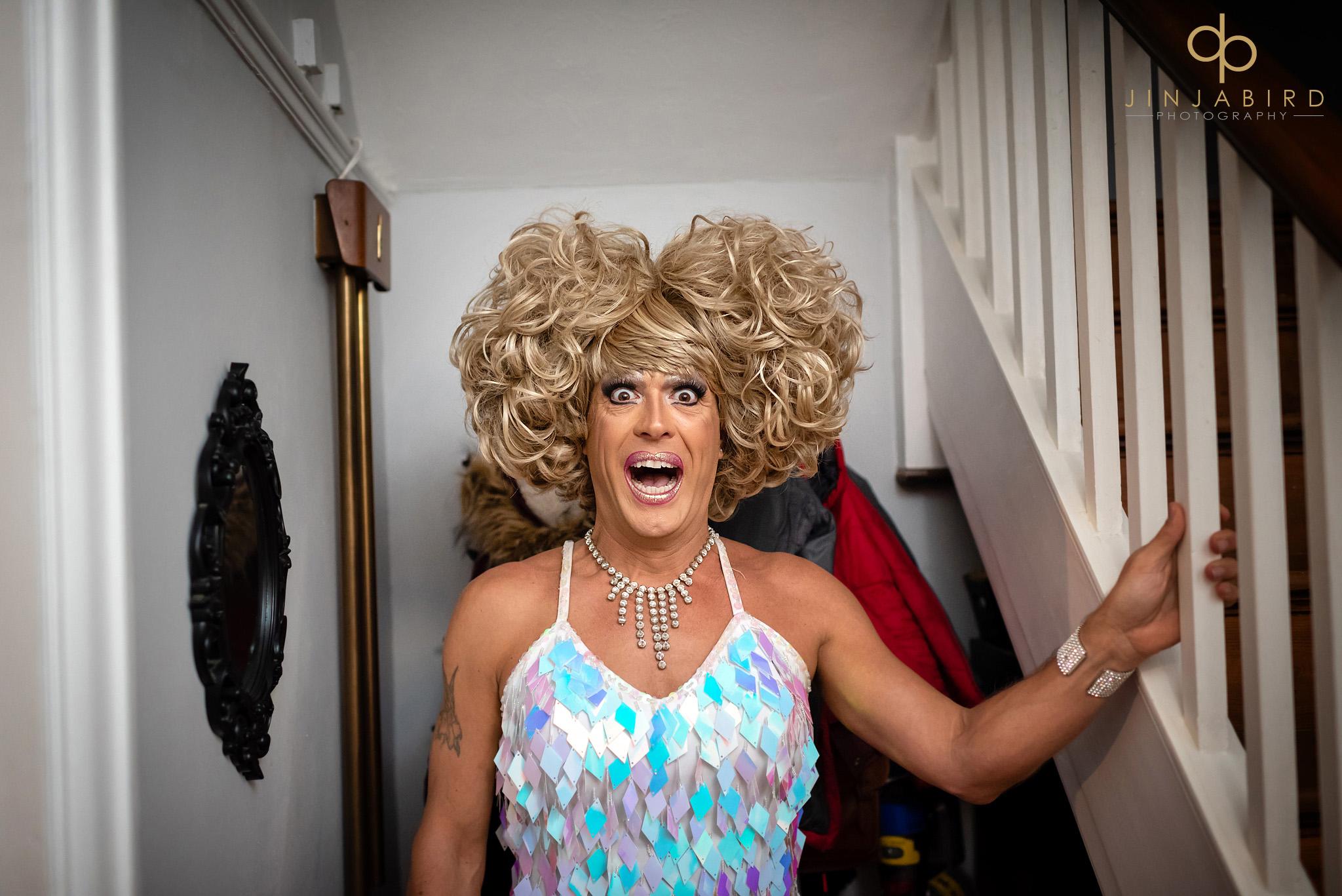 gay wedding drag act
