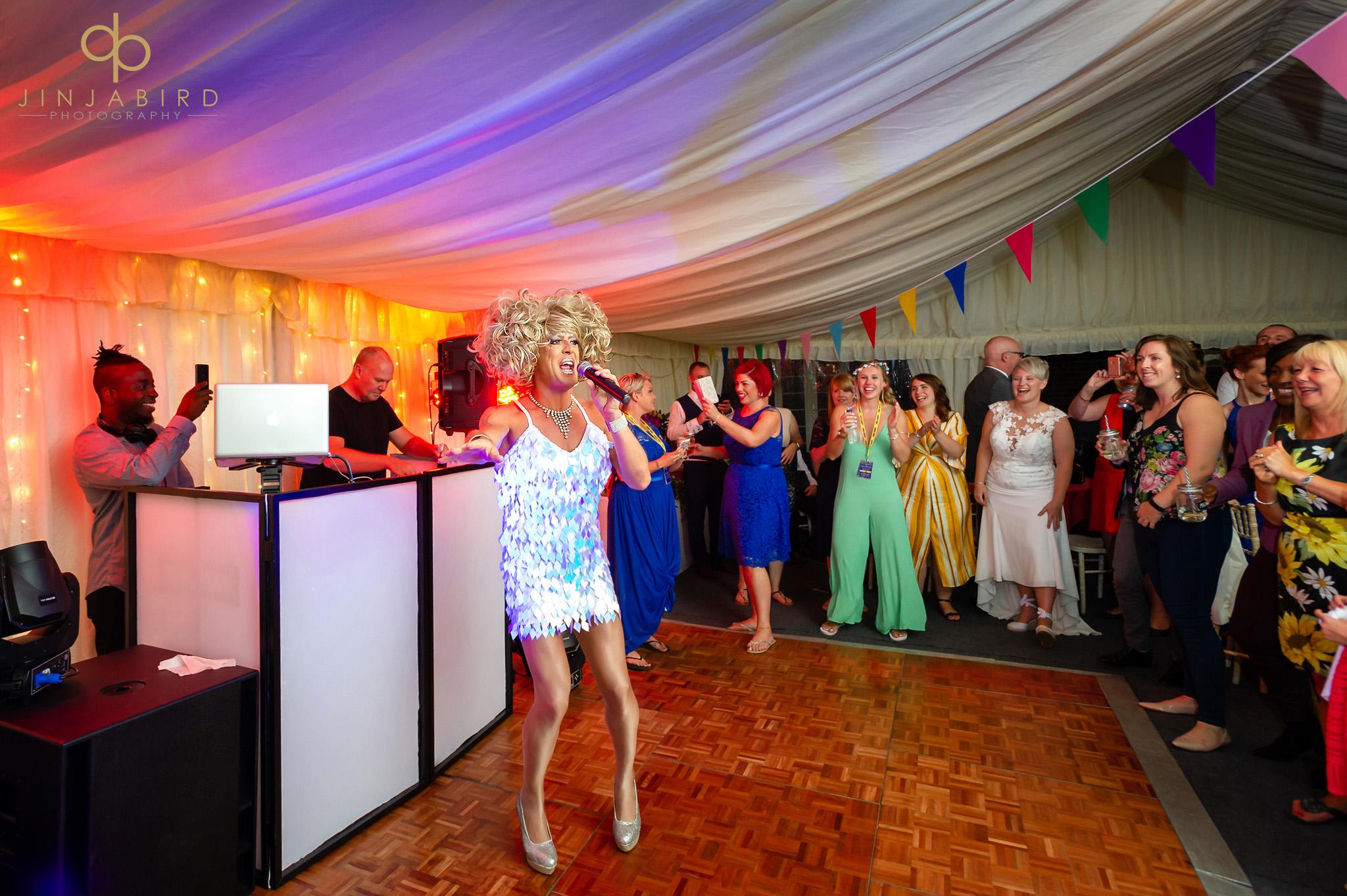 gay wedding reception bedford