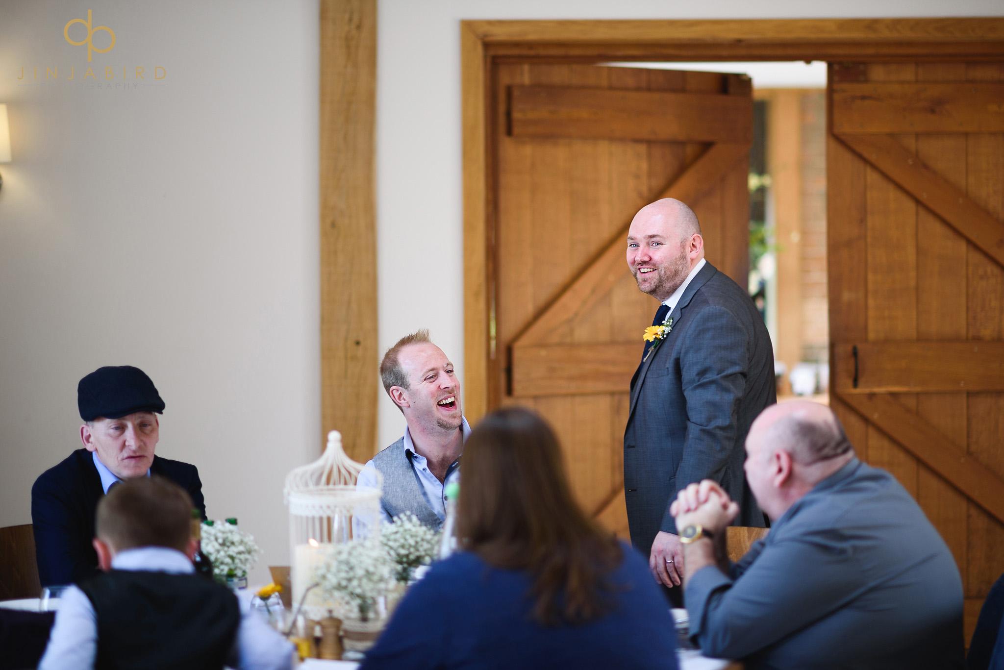 groom wedding breakfast