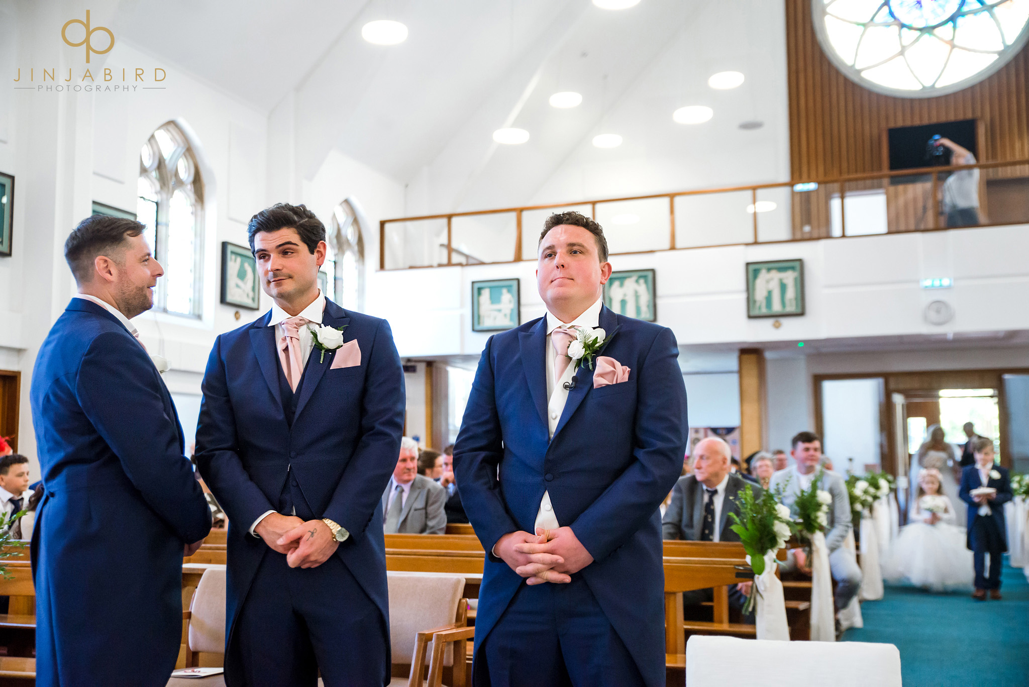 groom with ushers st-josephs church gerrards cross