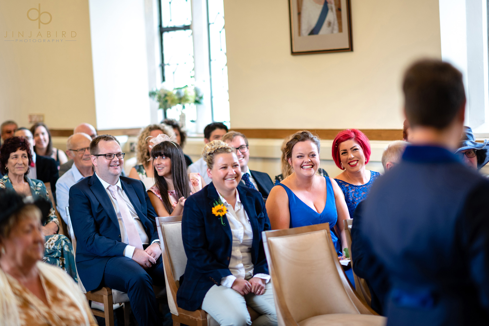 guests at gay wedding ceremony bedford