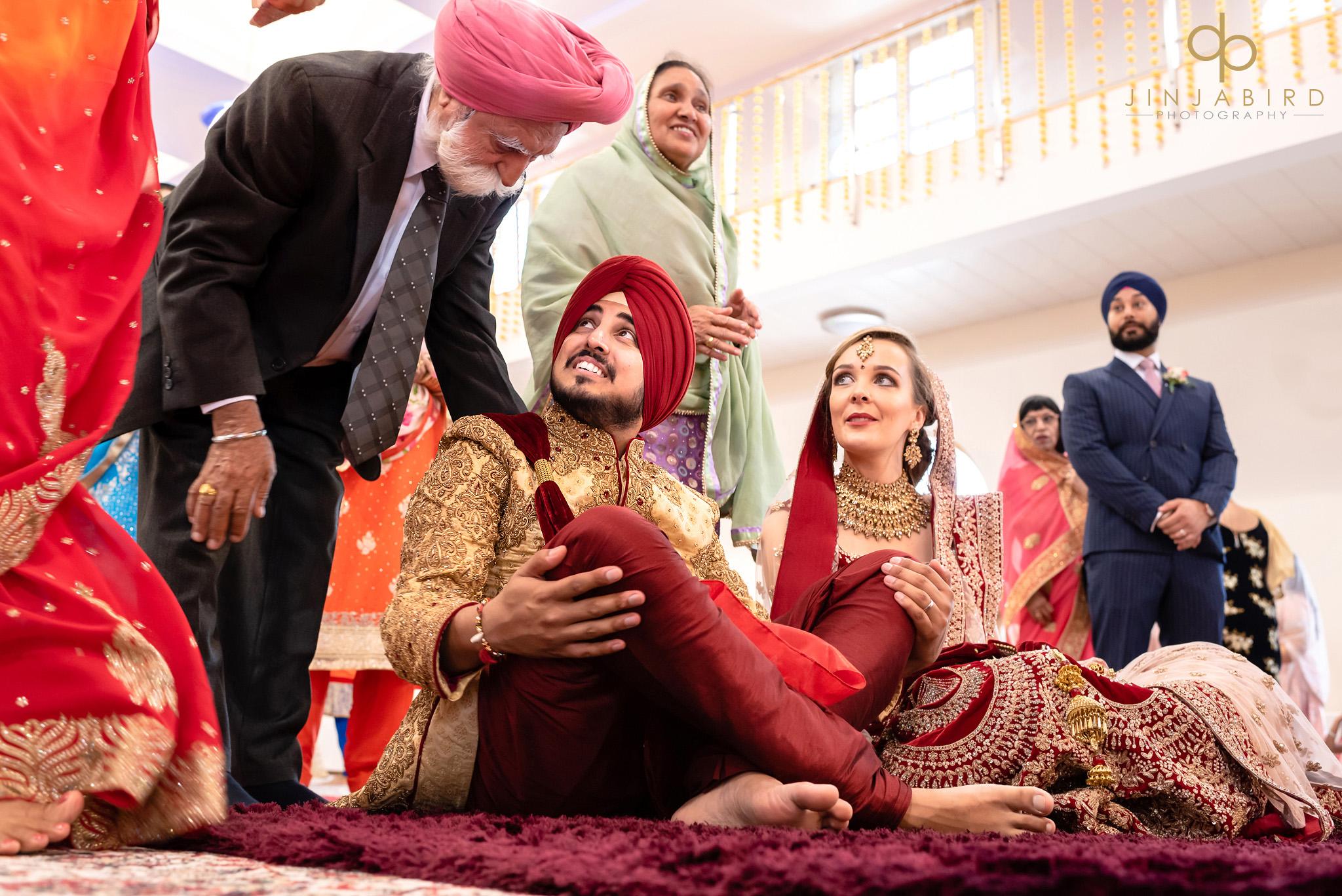 marriage ceremony bedford gurdwara
